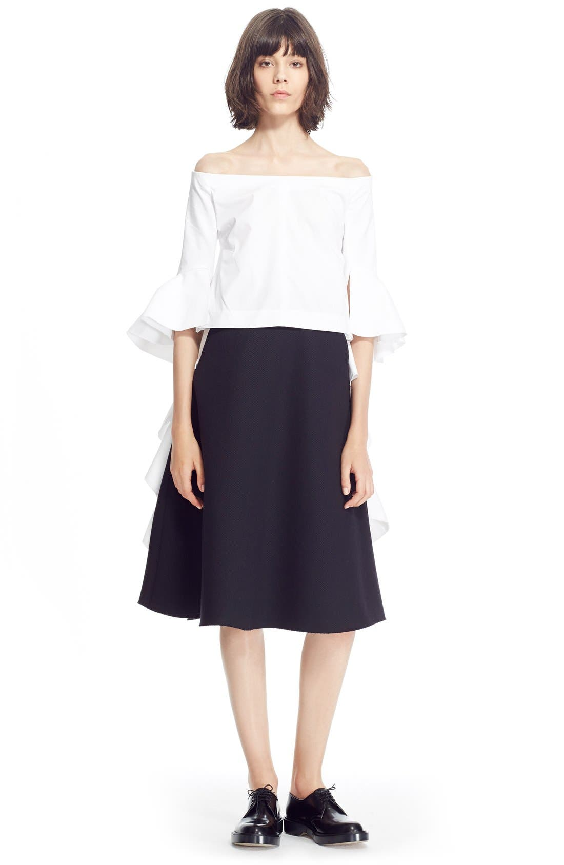 Alternate Image 7  - ELLERY 'Saturn' Flared Wool Blend Skirt