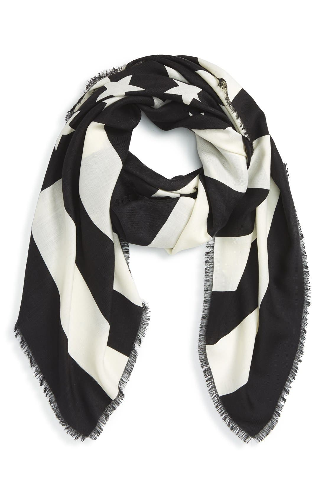 Alternate Image 1 Selected - Givenchy 'American Flag' Wool & Silk Scarf