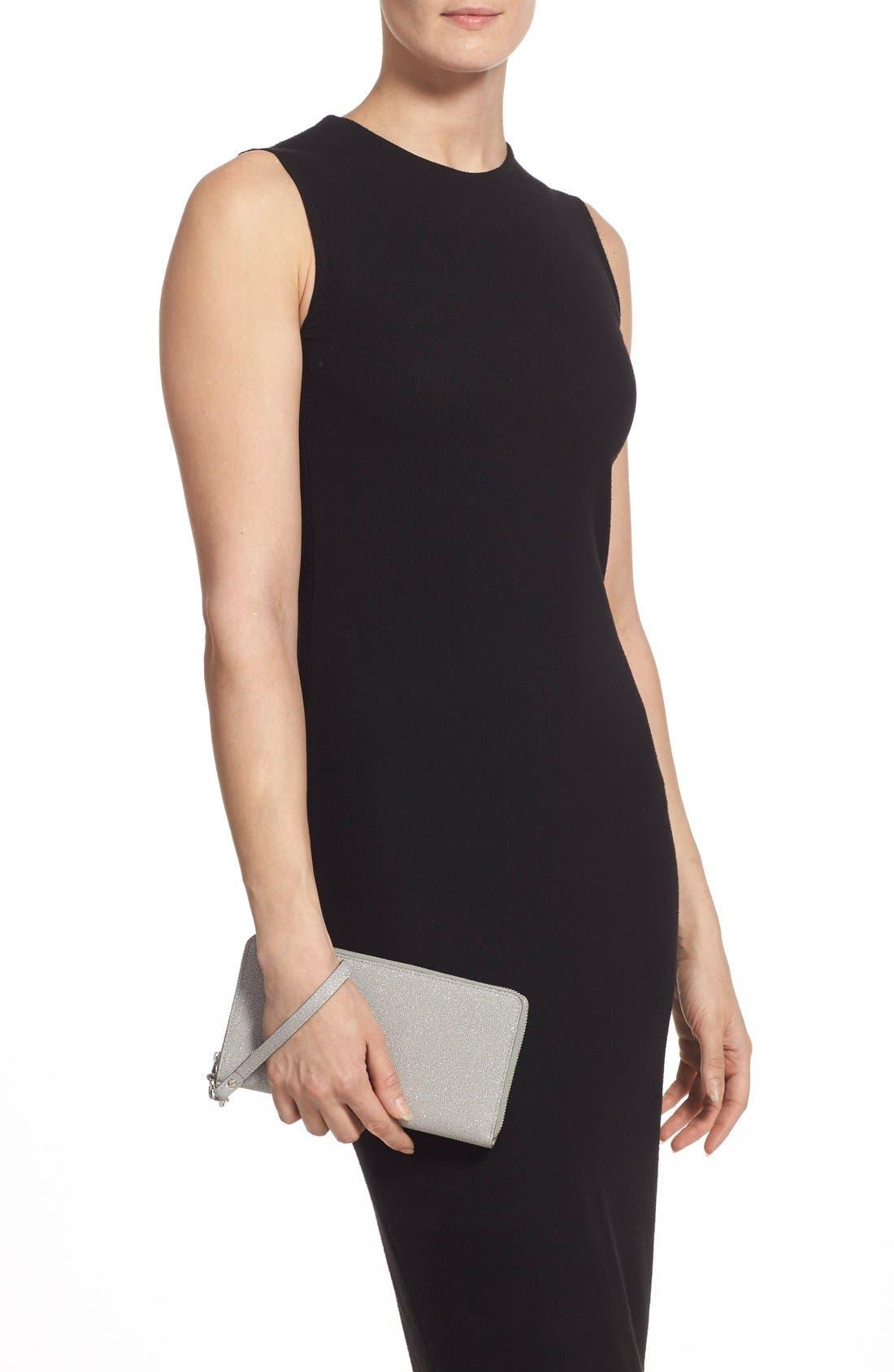 Alternate Image 3  - Halogen® Zip Around Leather Wallet