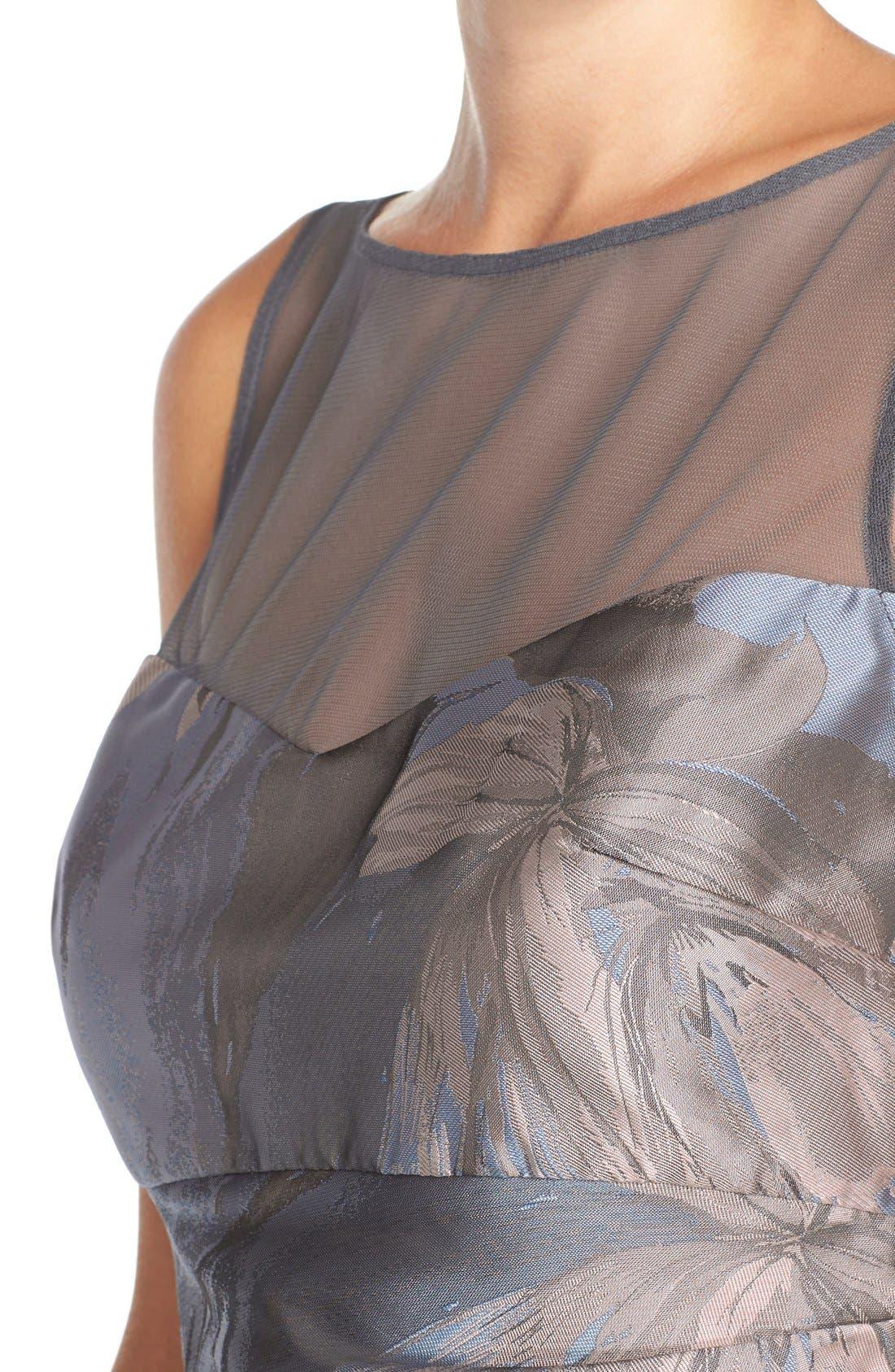 Alternate Image 4  - Maggy London 'Splash' Floral Jacquard Sheath Dress (Regular & Petite)