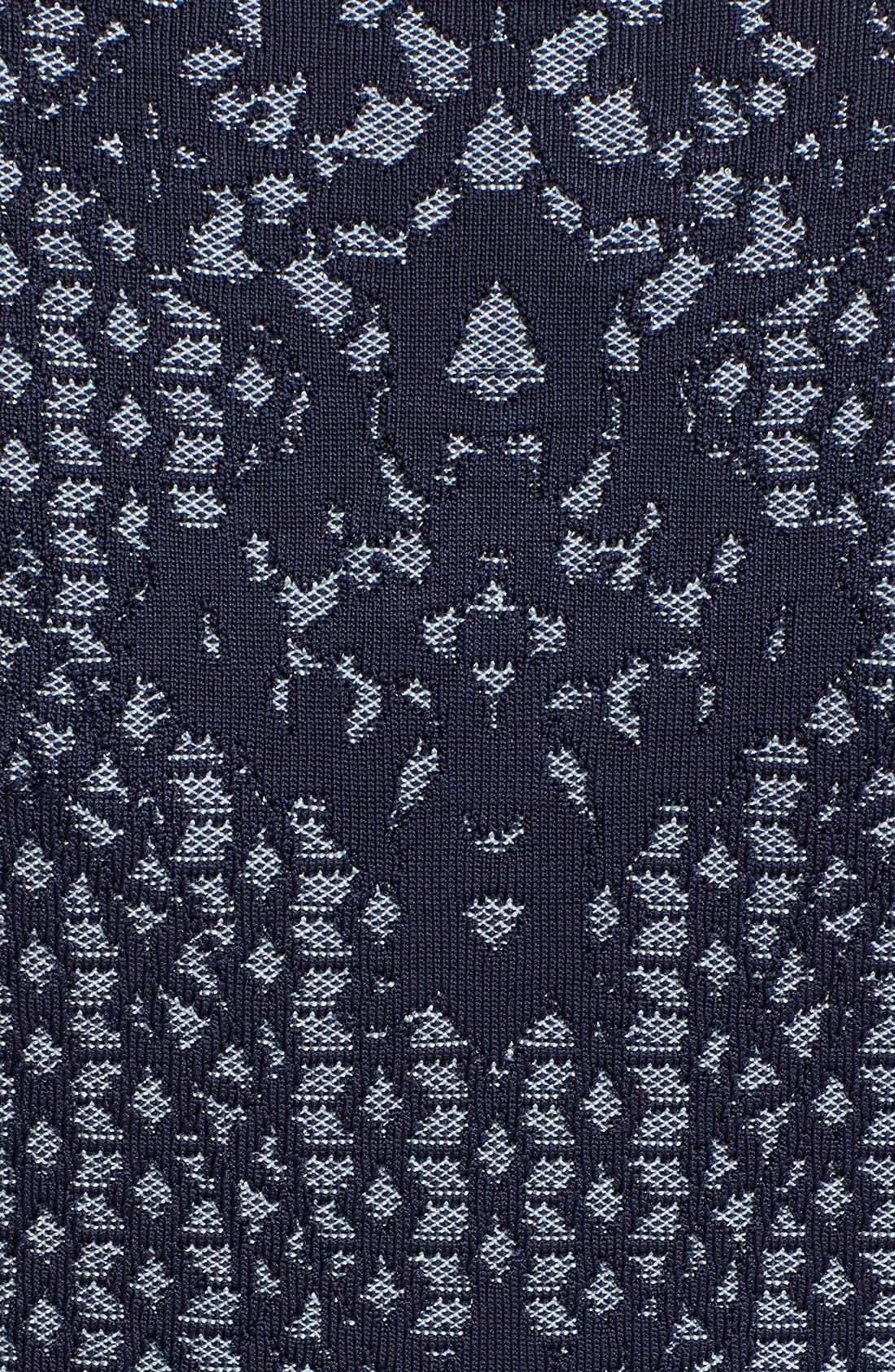 Alternate Image 3  - Herve Leger Asymmetrical Zip Jacquard Knit Jacket