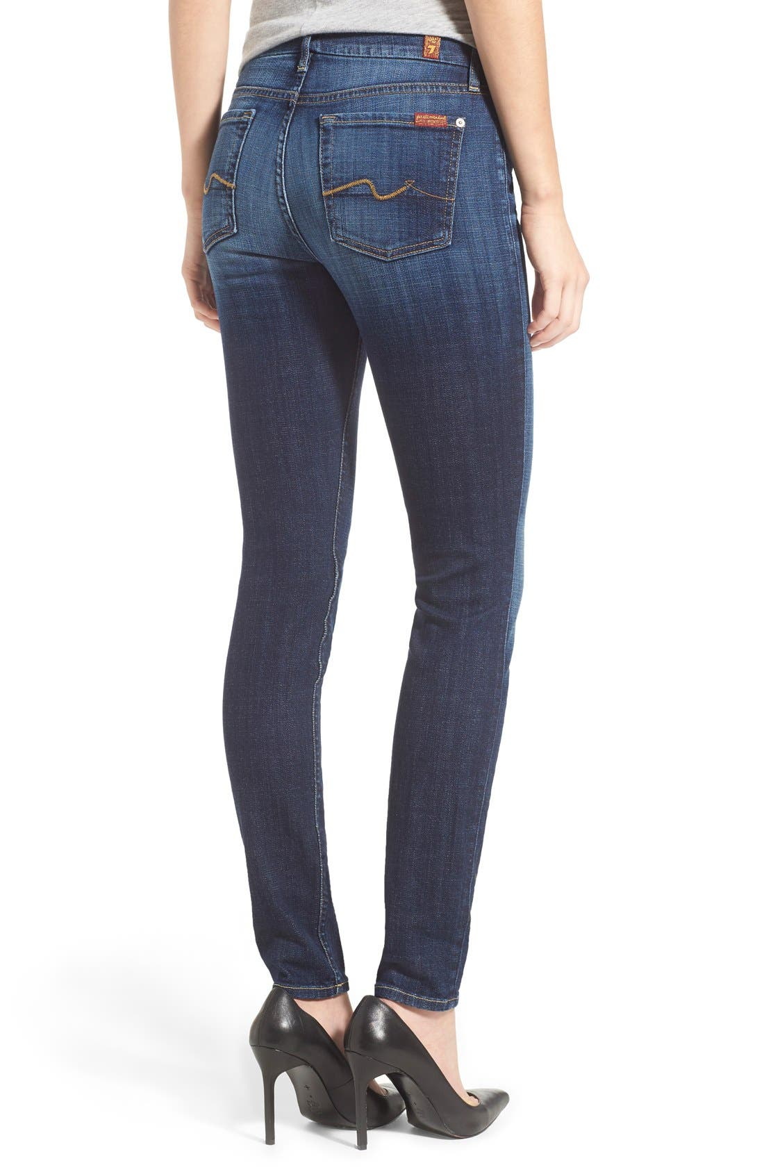 Alternate Image 2  - 7 For All Mankind® Skinny Jeans (Royal Broken Twill)