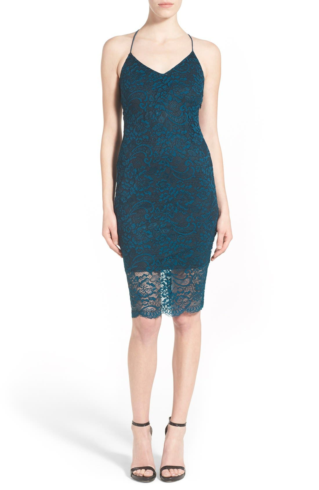 Main Image - Lovers + Friends 'Romance Me' Strappy Back Lace Dress