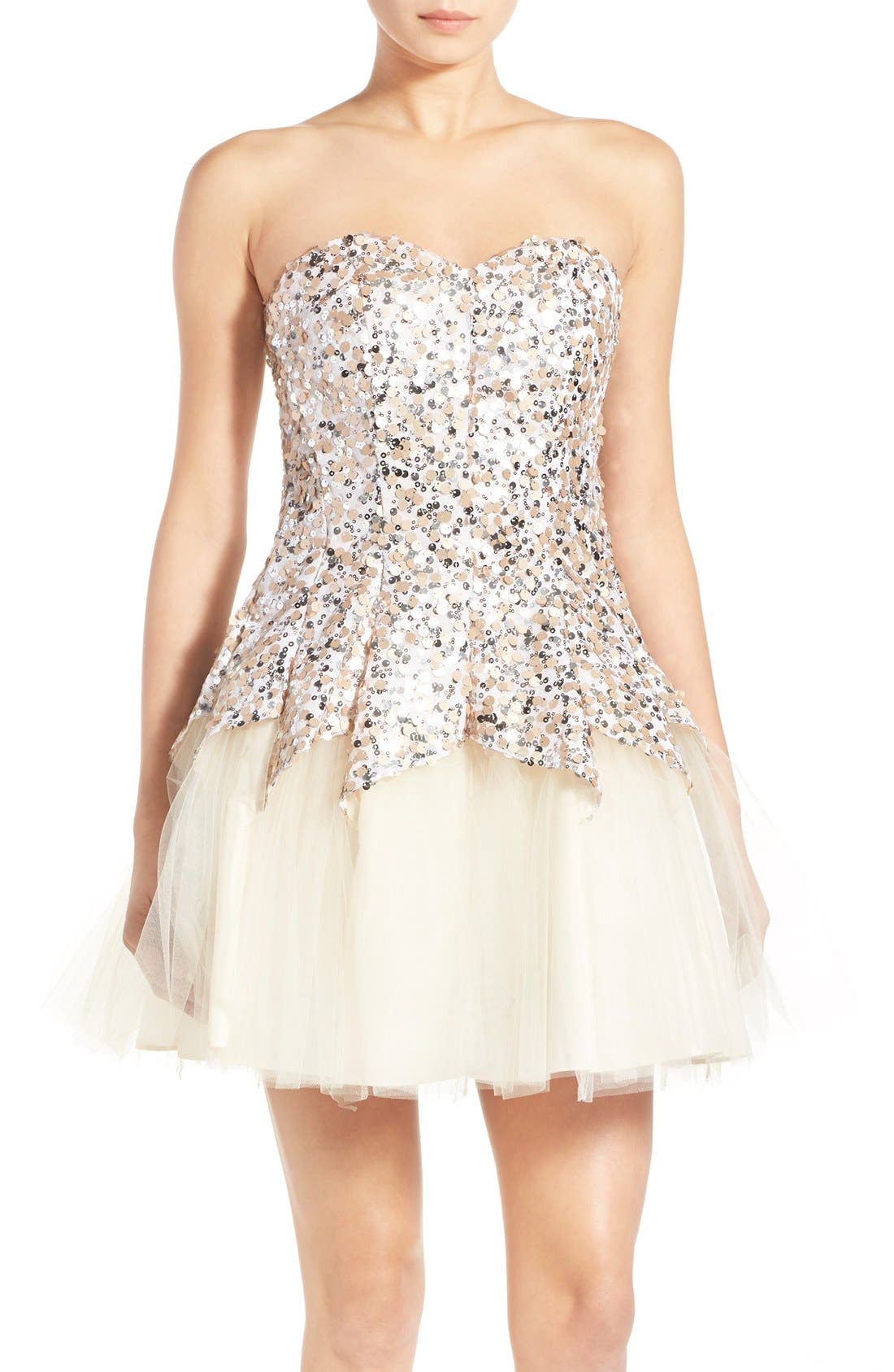 Alternate Image 1 Selected - Steppin Out Sequin Tulip Dress