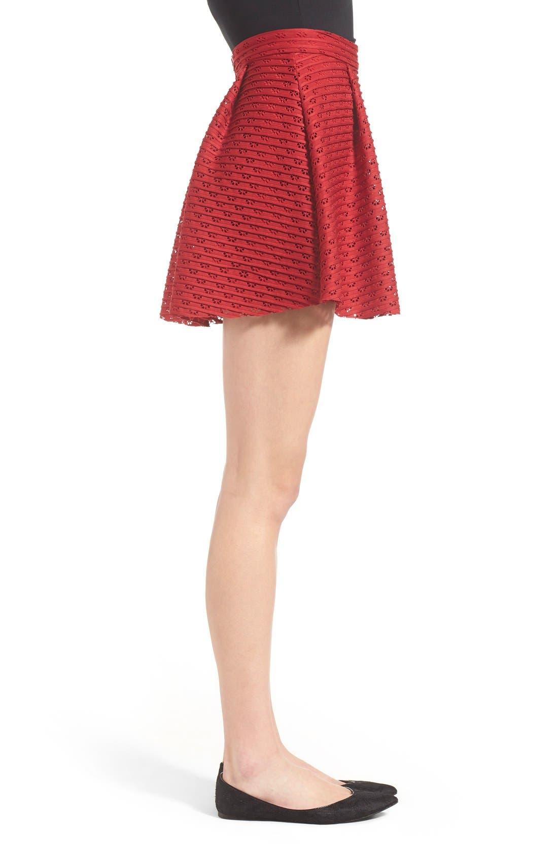 Alternate Image 3  - Lush Pleated Fit & Flare Miniskirt