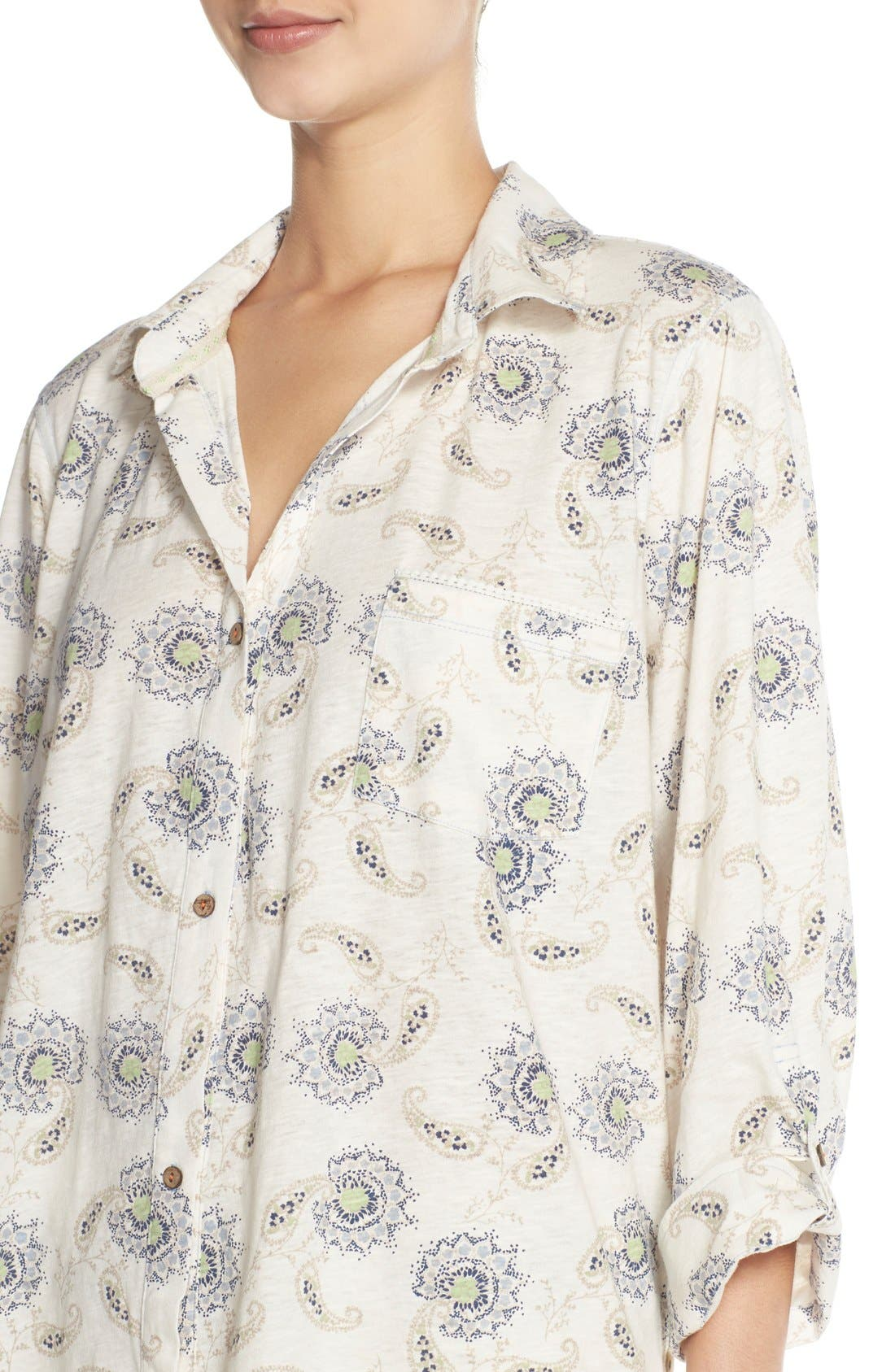 Alternate Image 4  - Lucky Brand Print Cotton Short Pajamas