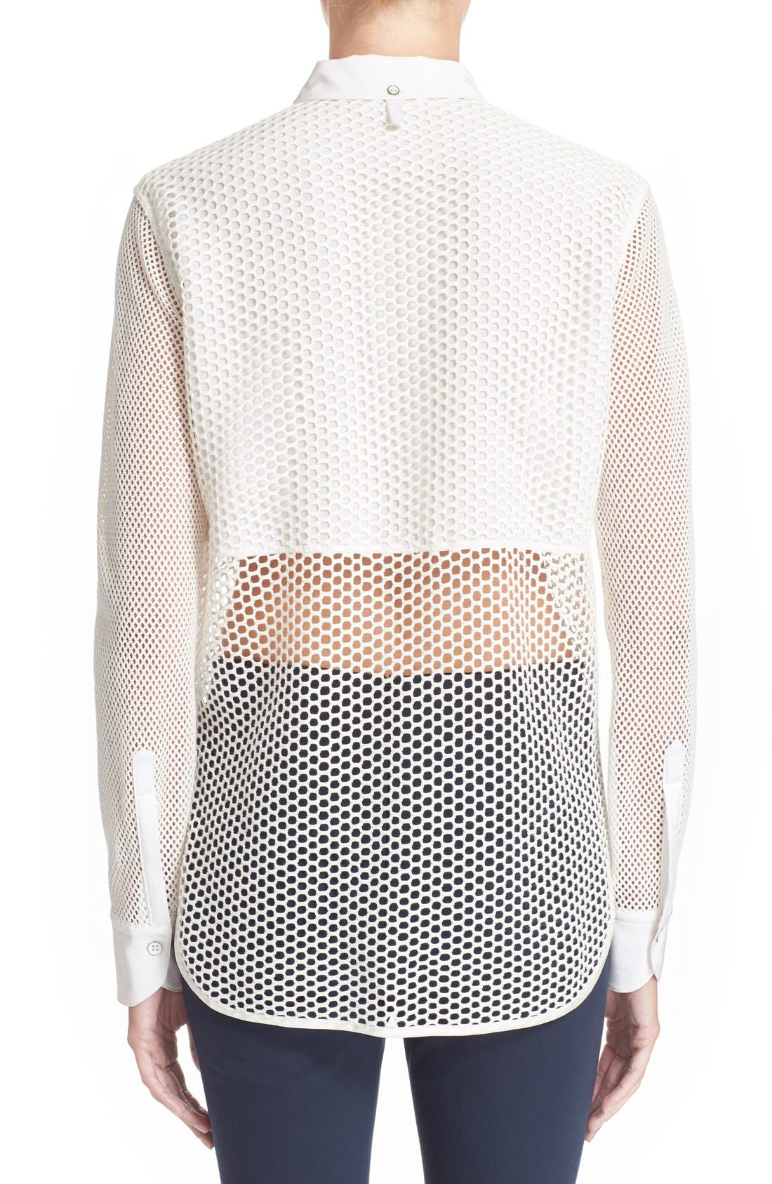 Alternate Image 2  - rag & bone 'Luna' Stretch Cotton Mesh Shirt