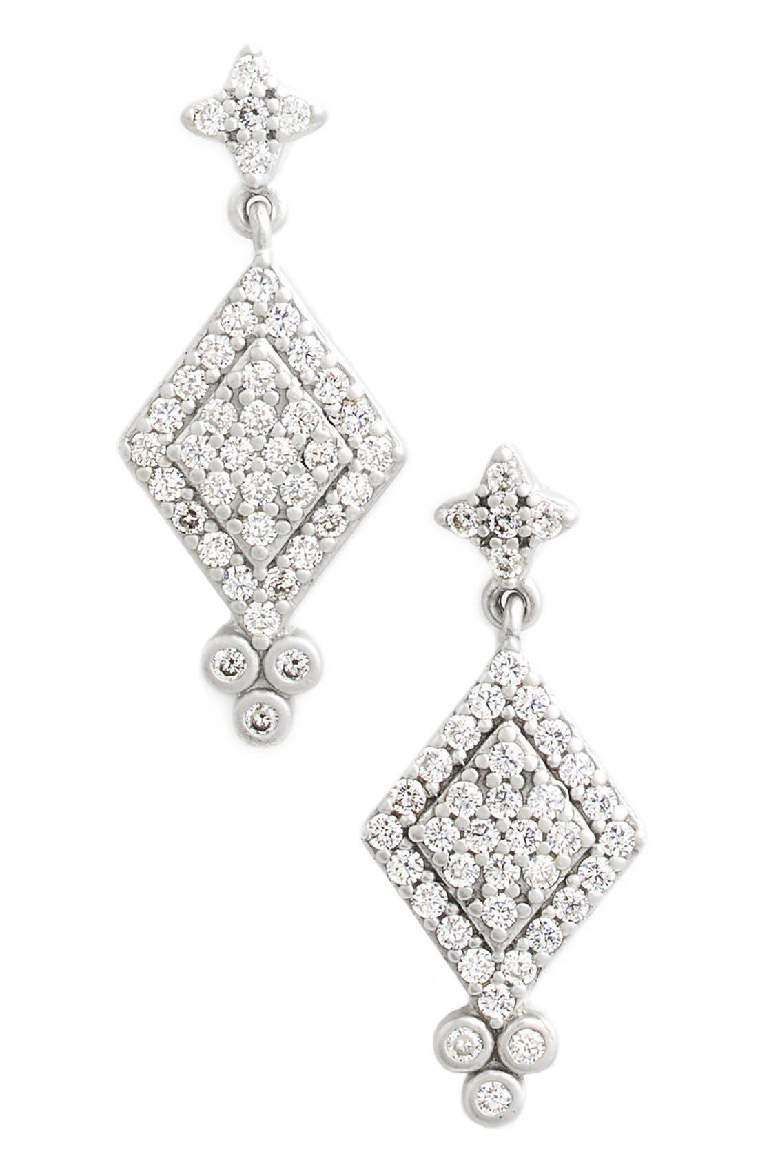 Alternate Image 1 Selected - FREIDA ROTHMAN 'Metropolitan' Pavé Drop Earrings