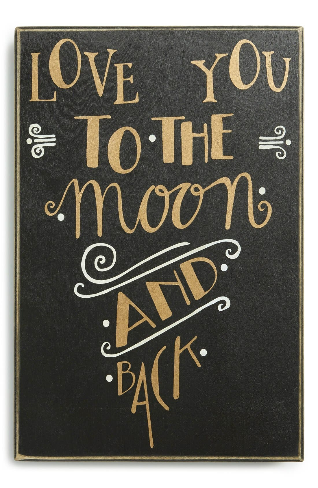 Main Image - Primitives by Kathy 'Love You to the Moon and Back' Box Sign