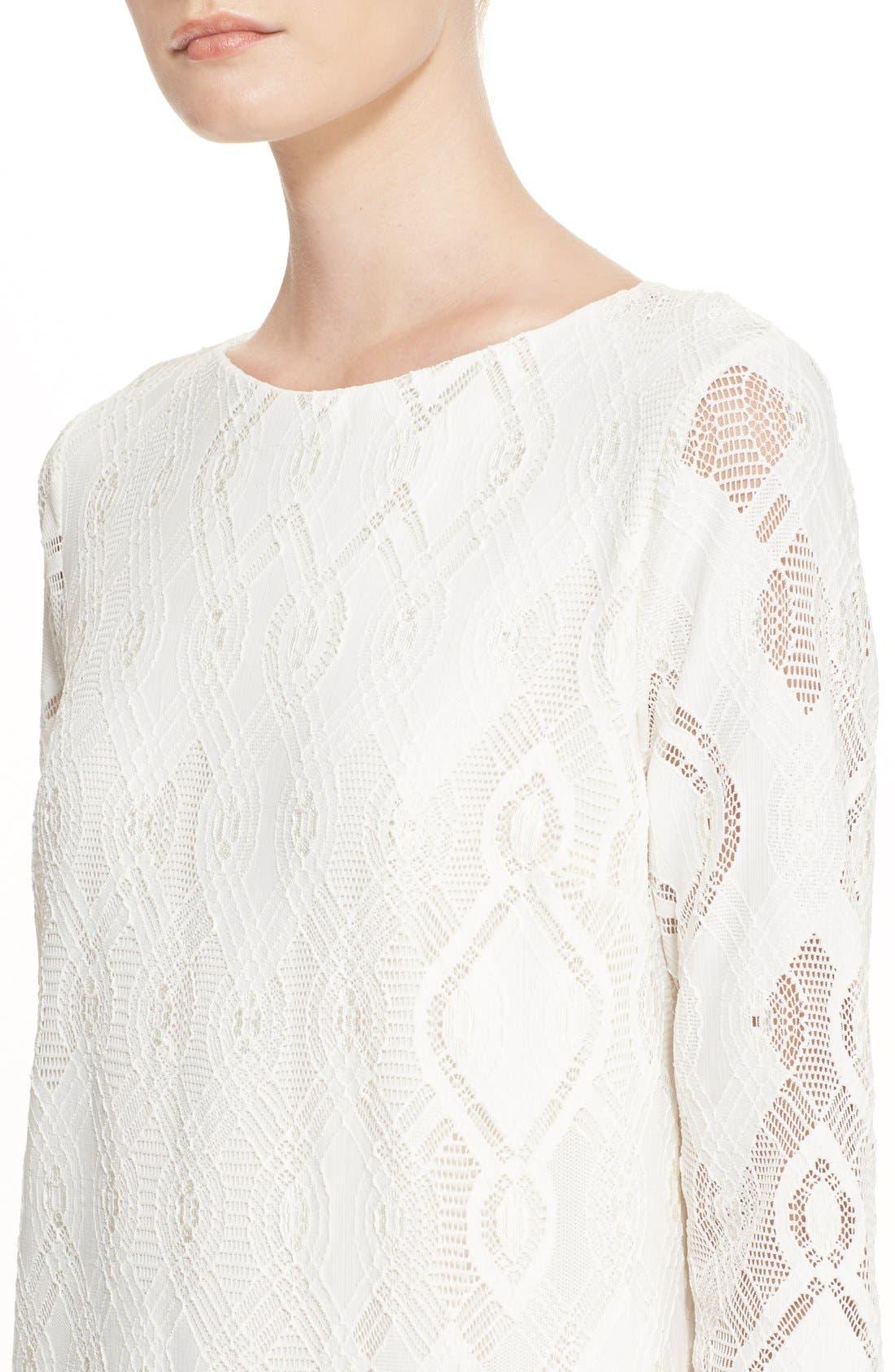 Alternate Image 6  - Fuzzi Lace Shift Dress