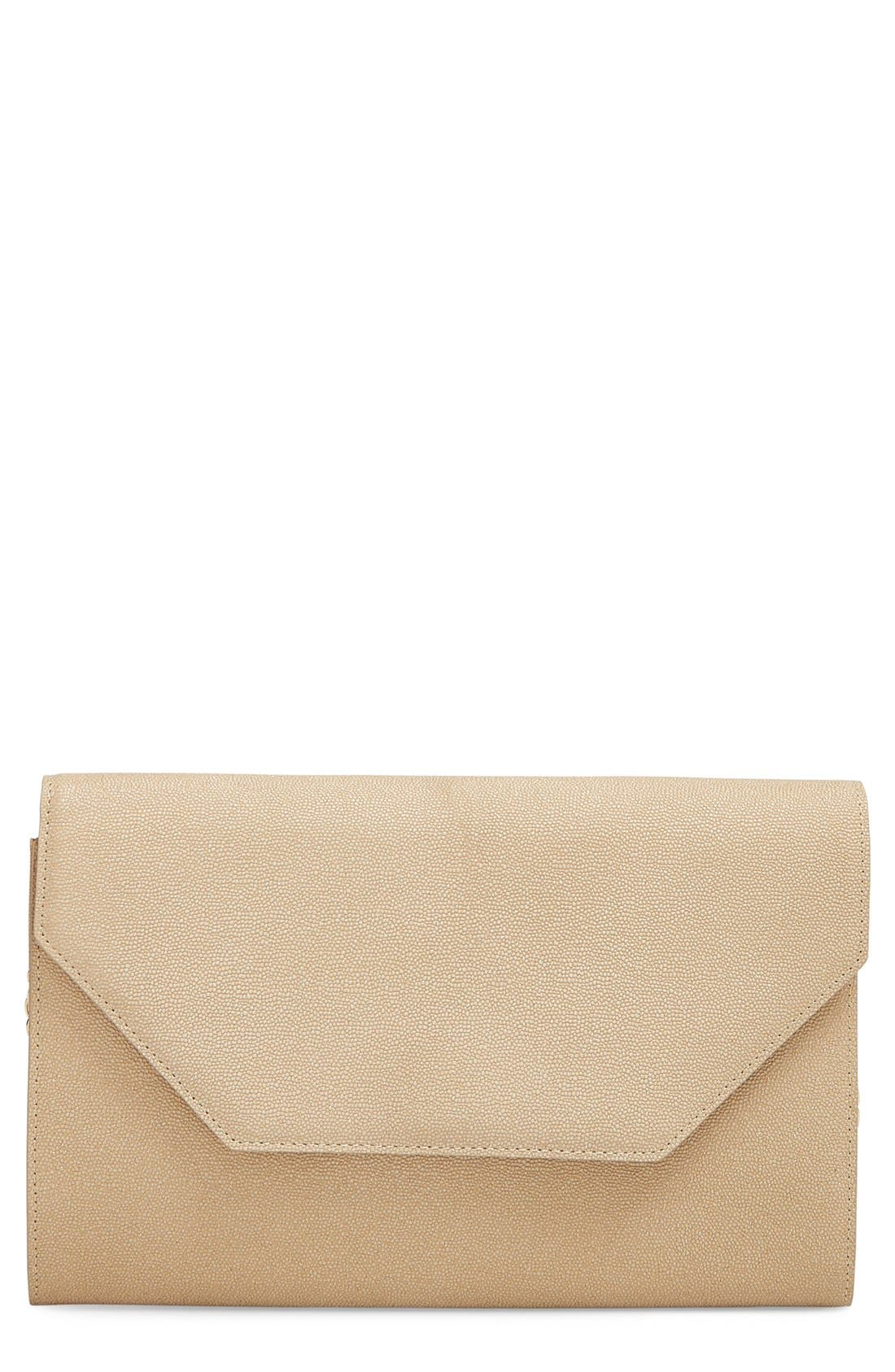 Alternate Image 1 Selected - Halogen® Angled Leather Day Clutch