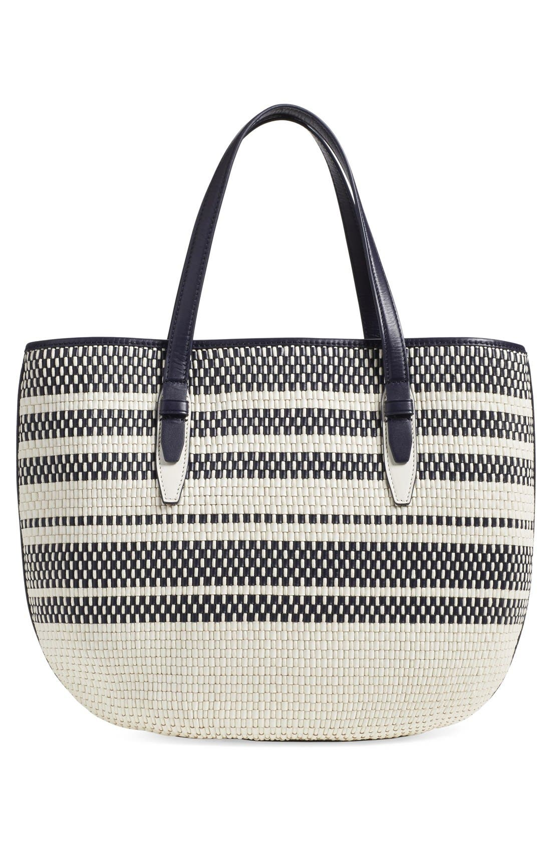 Alternate Image 3  - Tory Burch Woven Leather Tote