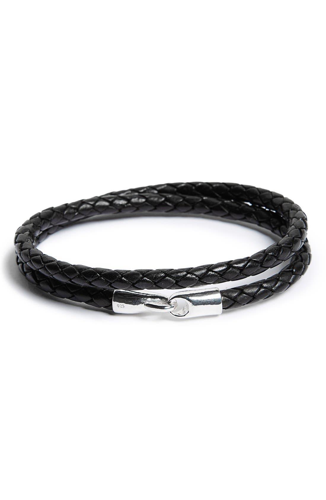Main Image - Caputo & Co. Leather Wrap Bracelet