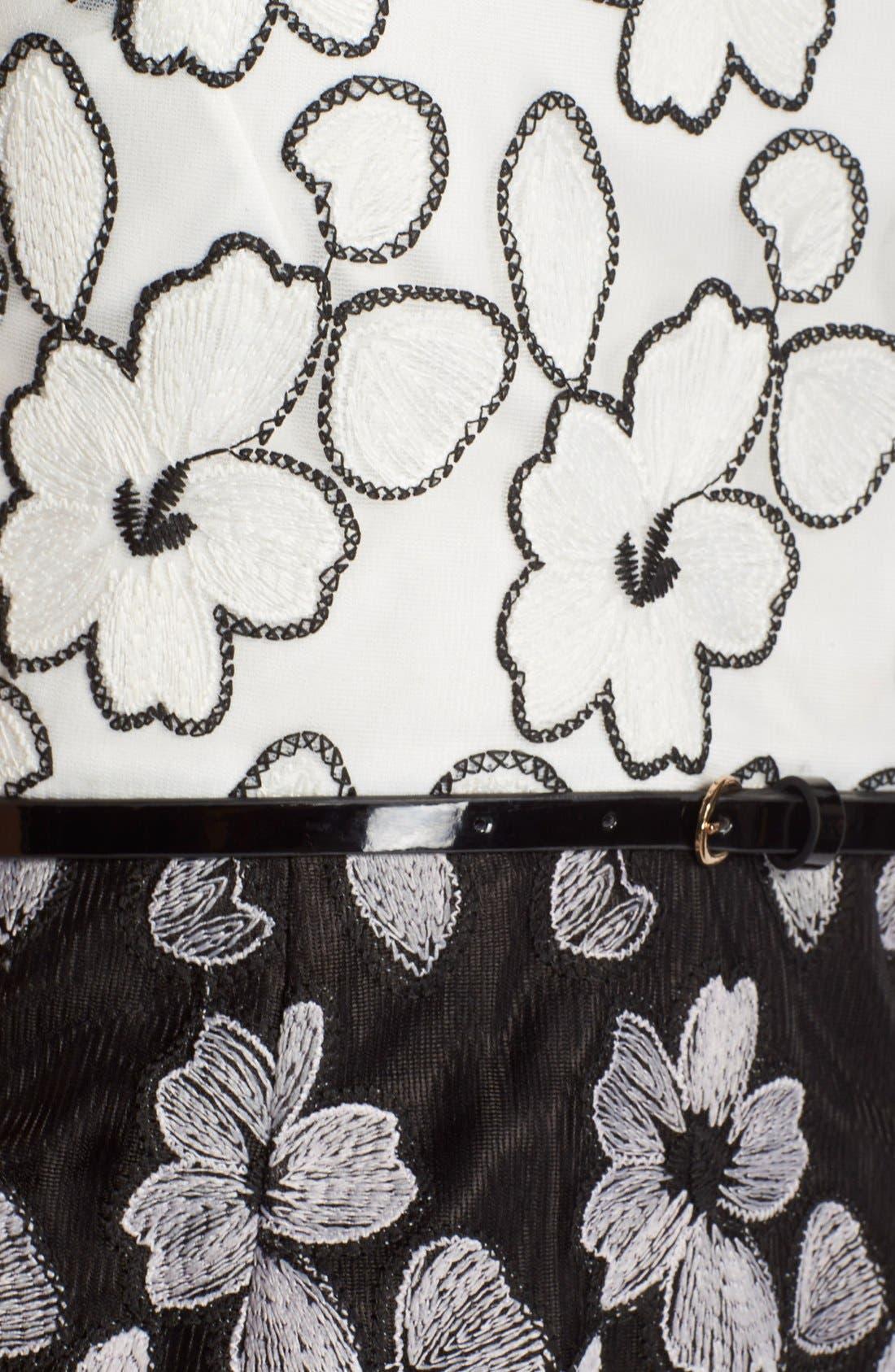 Alternate Image 5  - Ellen Tracy Floral Lace Sheath Dress With Belt