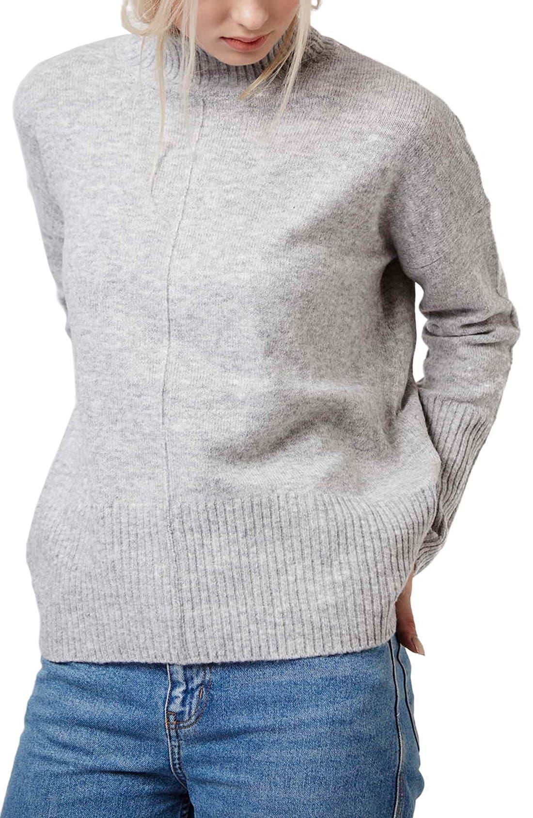 Alternate Image 1 Selected - Topshop Oversize Funnel Neck Sweater