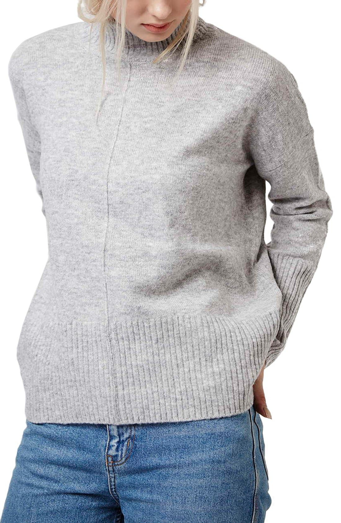 Main Image - Topshop Oversize Funnel Neck Sweater