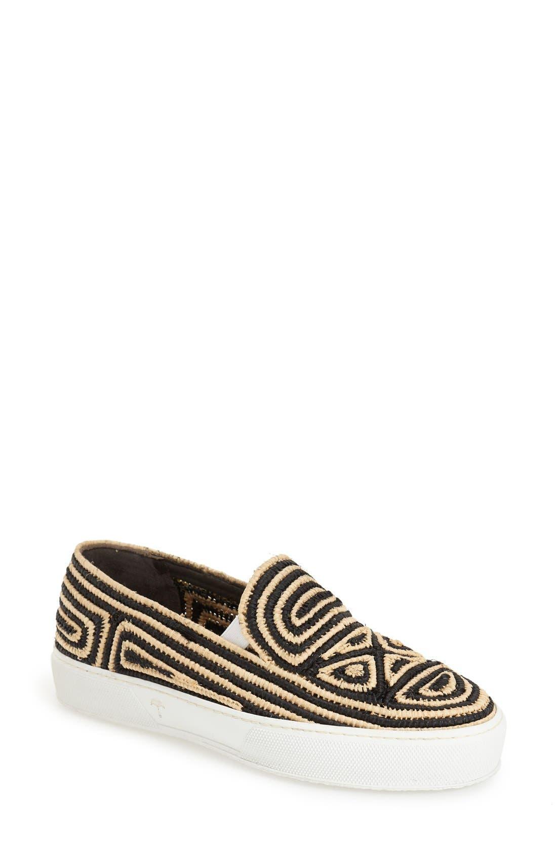 Main Image - Robert Clergerie Woven Slip-On Sneaker (Women)