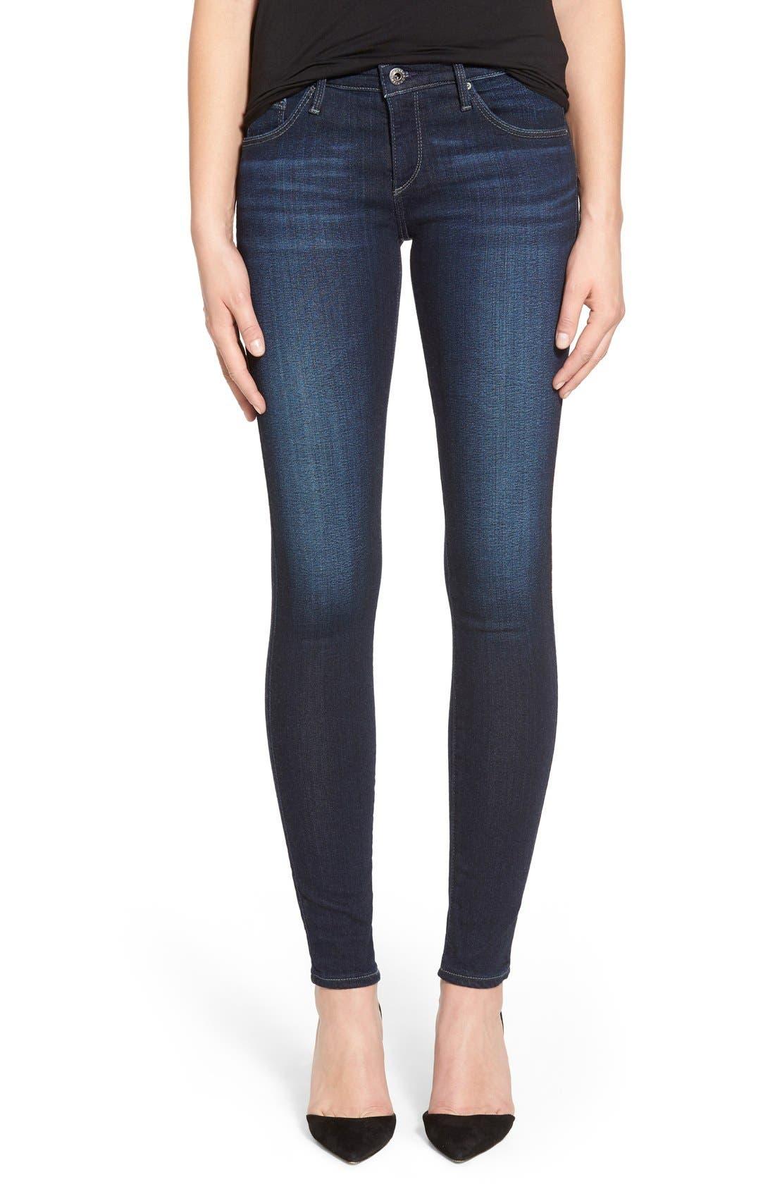 Alternate Image 1 Selected - AG Jeans Super Skinny Stretch Jeans (Stella)