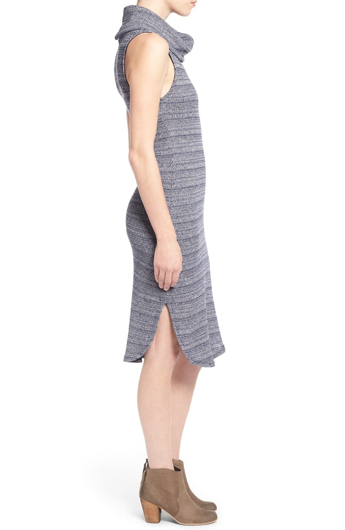 Alternate Image 3  - Lush Sleeveless Turtleneck Sweater Dress
