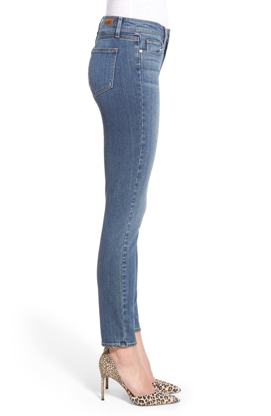 Alternate Image 3  - Paige Denim 'Transcend - Hoxton' High Rise Ankle Ultra Skinny Jeans (Linden)