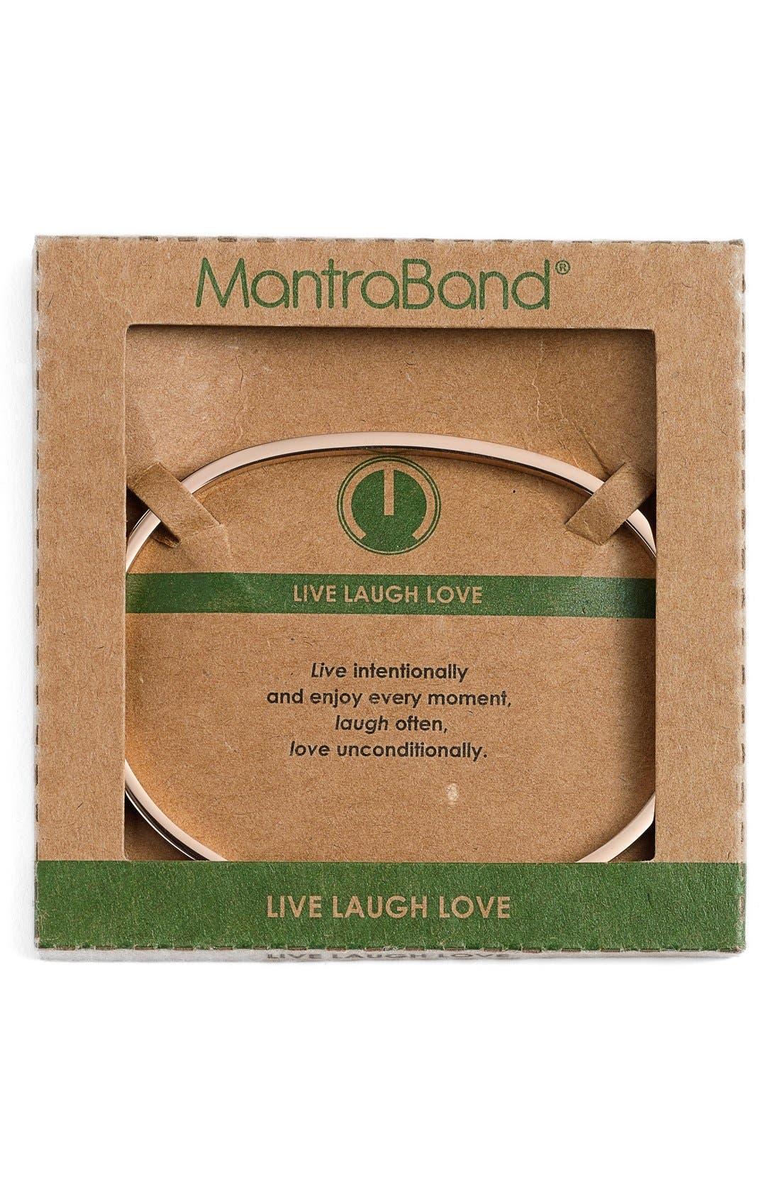 Alternate Image 2  - MantraBand® 'Live Laugh Love' Cuff
