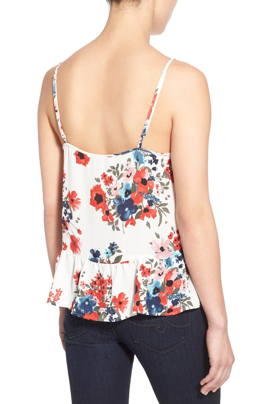 Alternate Image 2  - cupcakes and cashmere 'Blushing Floral' Peplum Tank