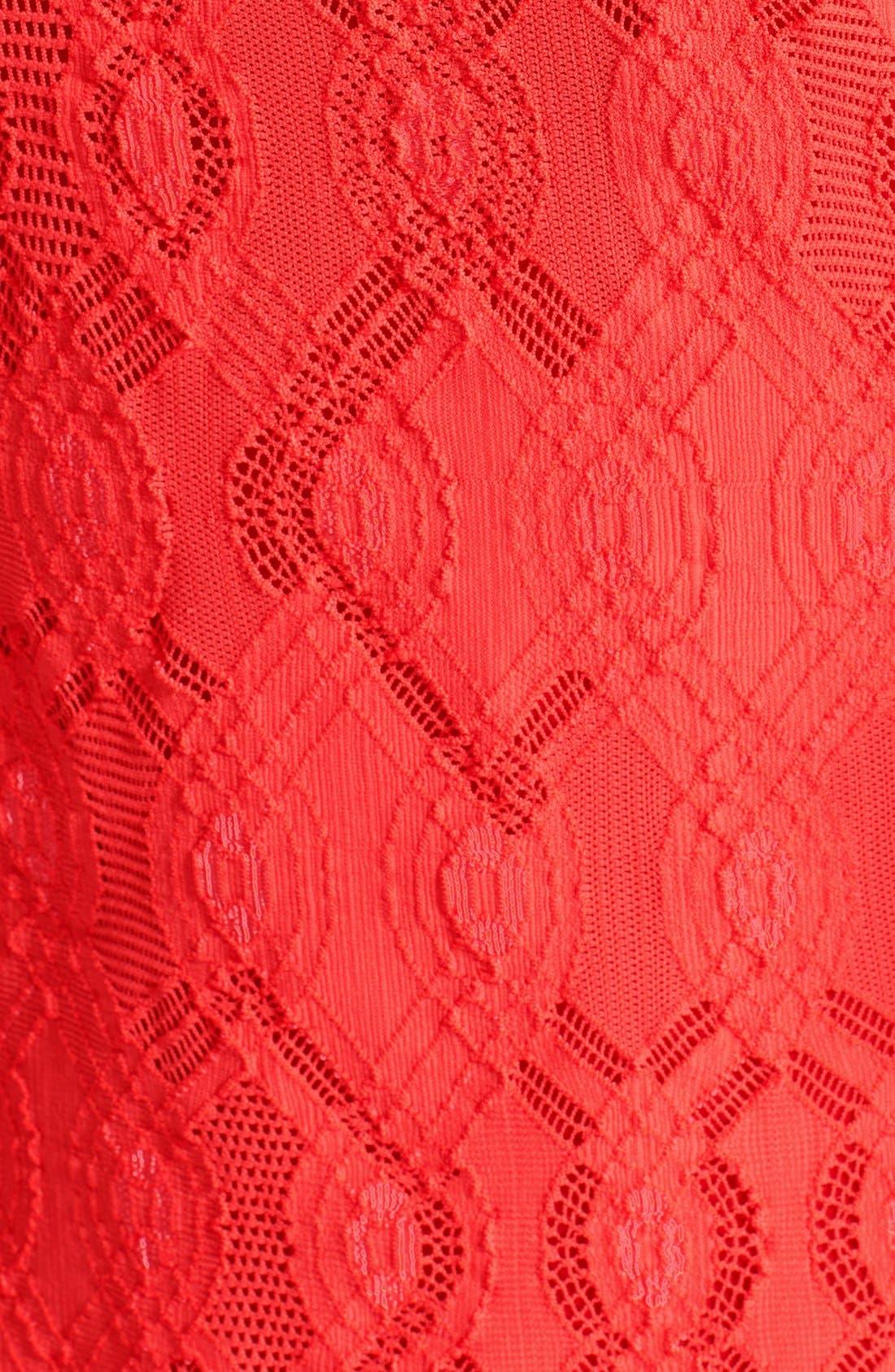 Alternate Image 3  - Fuzzi Long Sleeve Geo Lace Sheath Dress