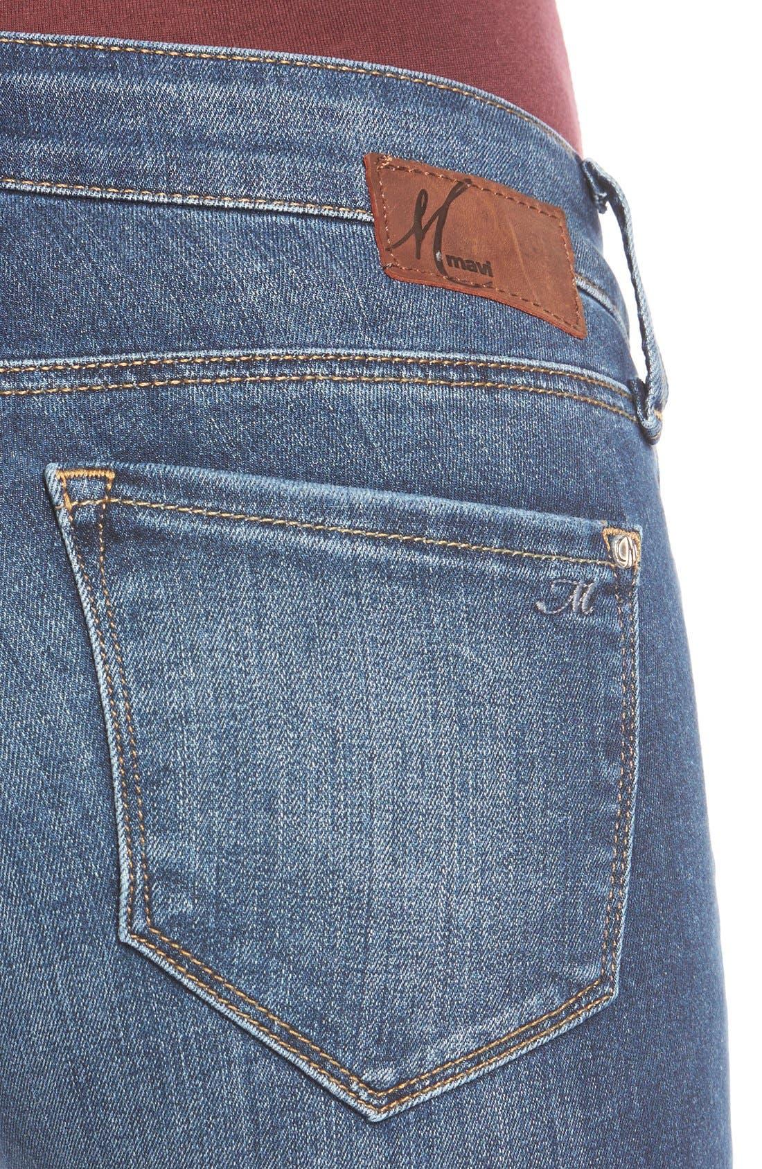 Alternate Image 4  - Mavi Jeans 'Serena' Stretch Low Rise Skinny Jeans (Indigo Nolita)