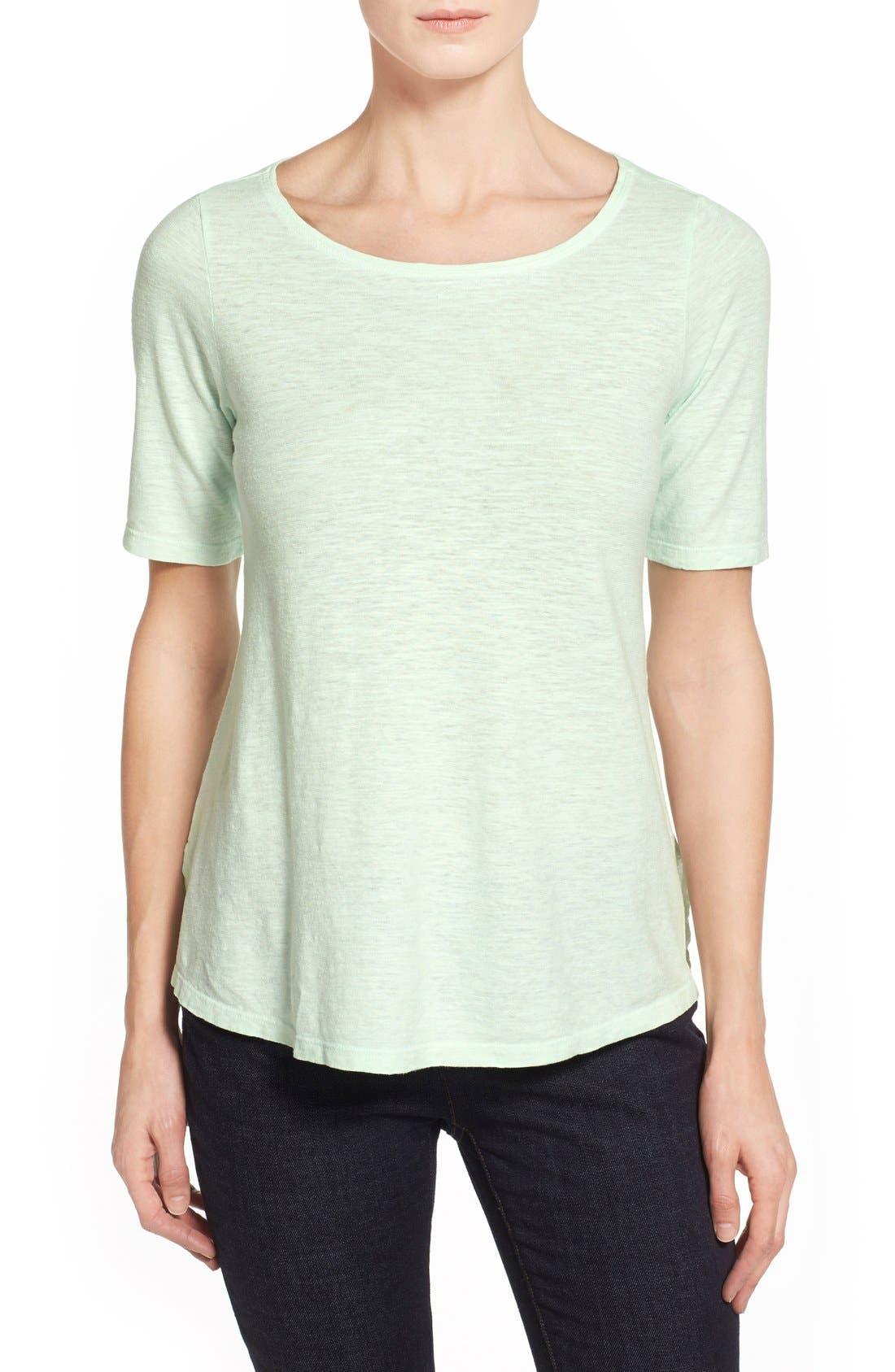 Main Image - Eileen Fisher Hemp & Organic Cotton Top (Regular & Petite)