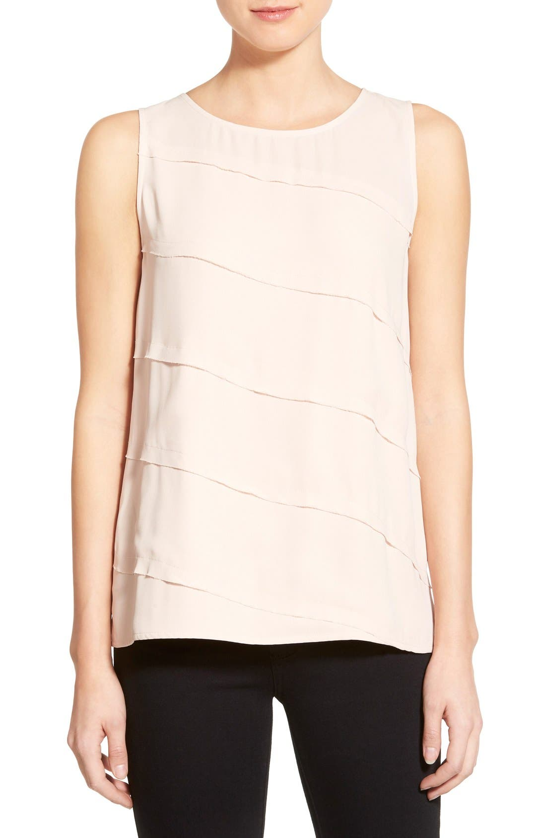 Alternate Image 1 Selected - Halogen® Tiered Sleeveless Top