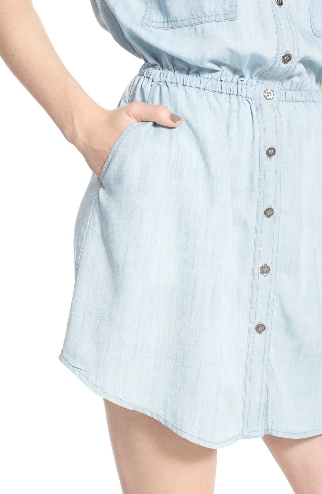 Alternate Image 4  - BP. Chambray Shirtdress
