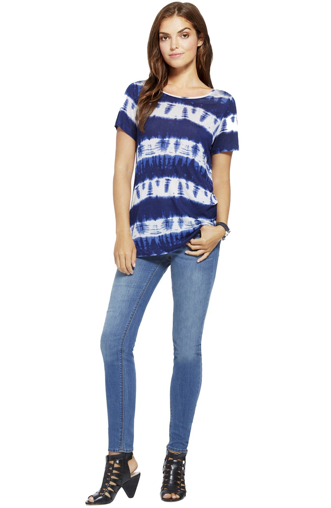 Alternate Image 3  - Two by Vince Camuto Tie Dye Stripe Ballet Neck Tee