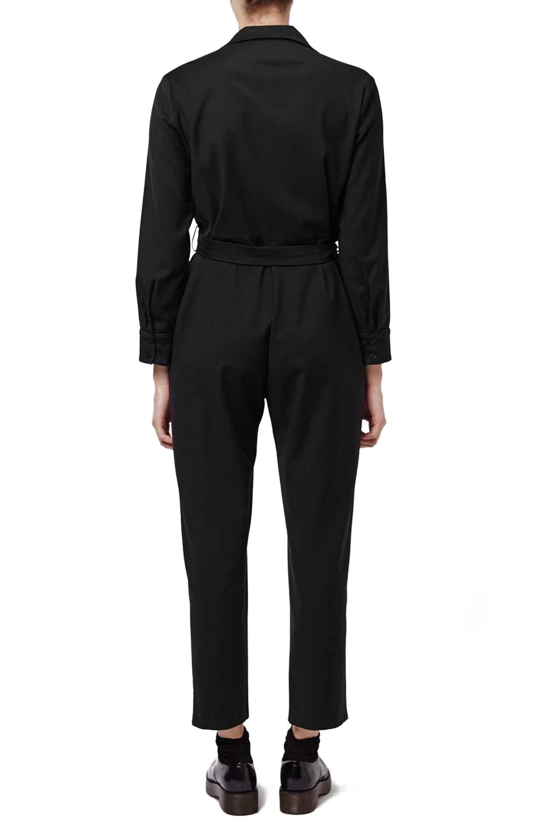 Alternate Image 2  - Topshop Boutique Tailored PJ Jumpsuit