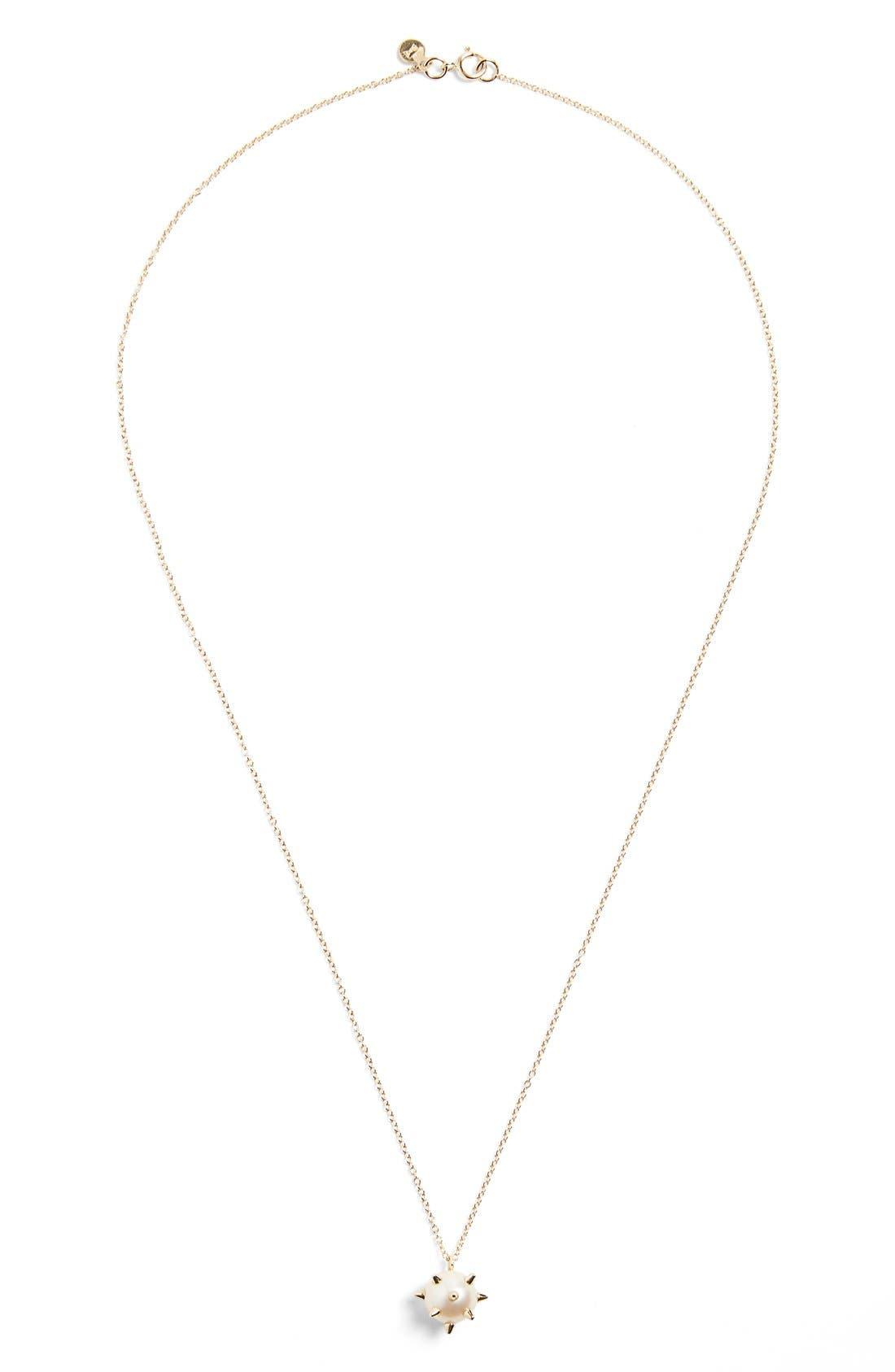 Alternate Image 2  - Nektar de Stagni 'New Classics' Spike Cultured Pearl Pendant Necklace