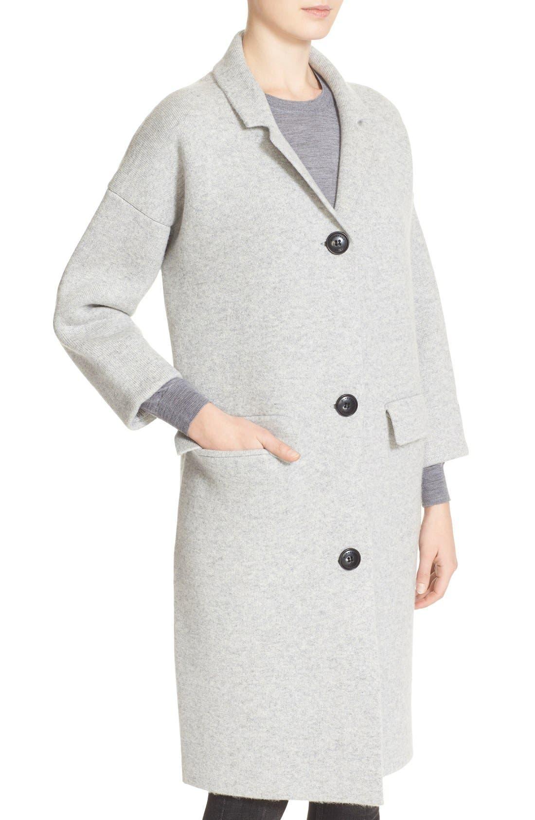 Alternate Image 6  - Burberry Brit Wool & Cashmere Knit Long Coat