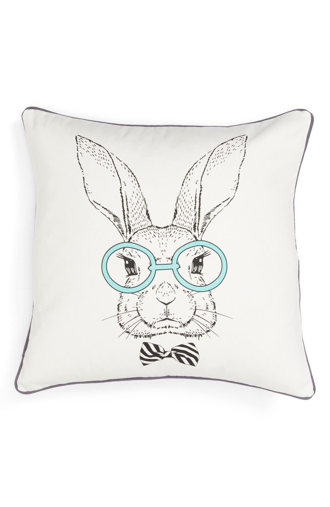 Alternate Image 1 Selected - Levtex 'Rabbit with Specs' Pillow