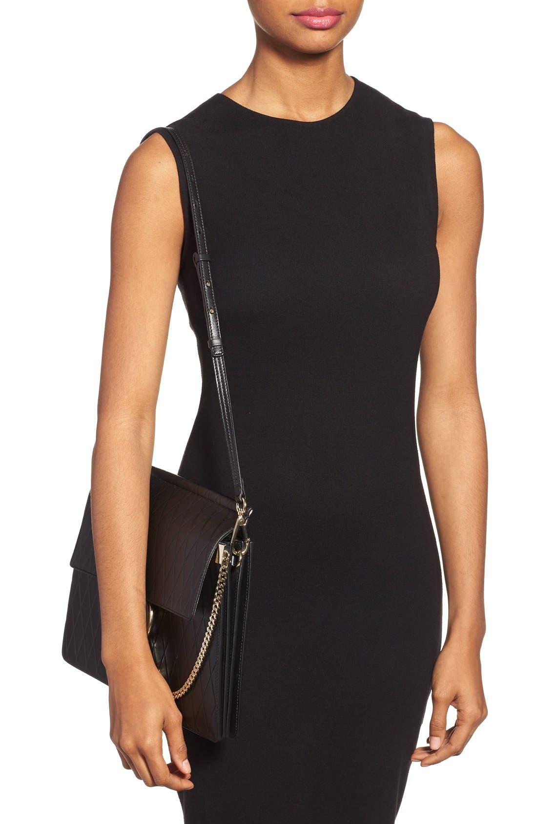 Alternate Image 2  - Chloé 'Medium Faye' Diamond Embossed Leather Shoulder Bag
