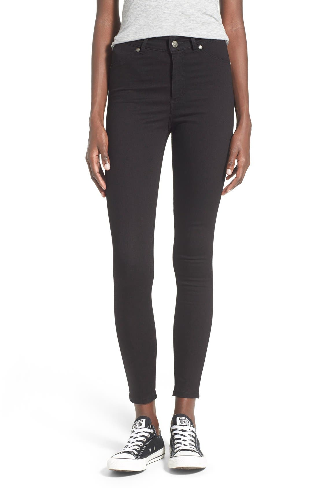 Alternate Image 1 Selected - Cheap Monday High Rise Super Skinny Jeans (Black)