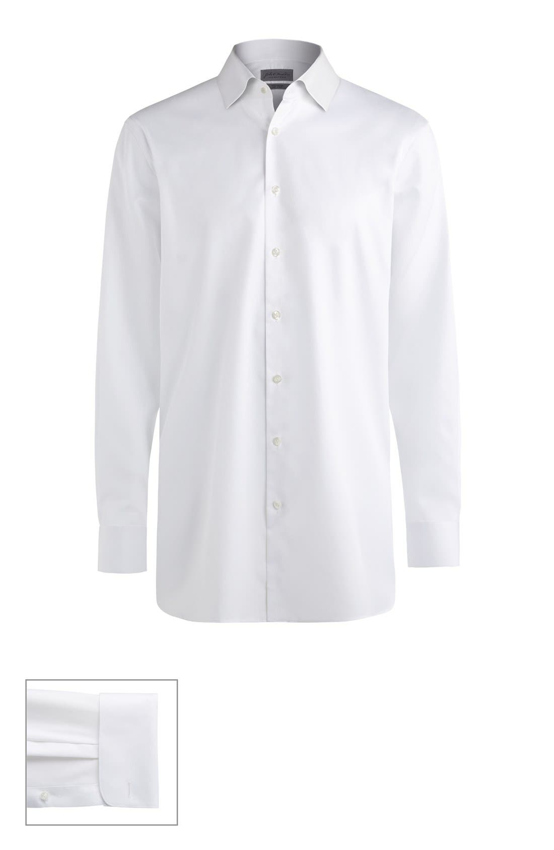 John W. Nordstrom® Made to Measure Trim Fit Spread Collar Solid Dress Shirt