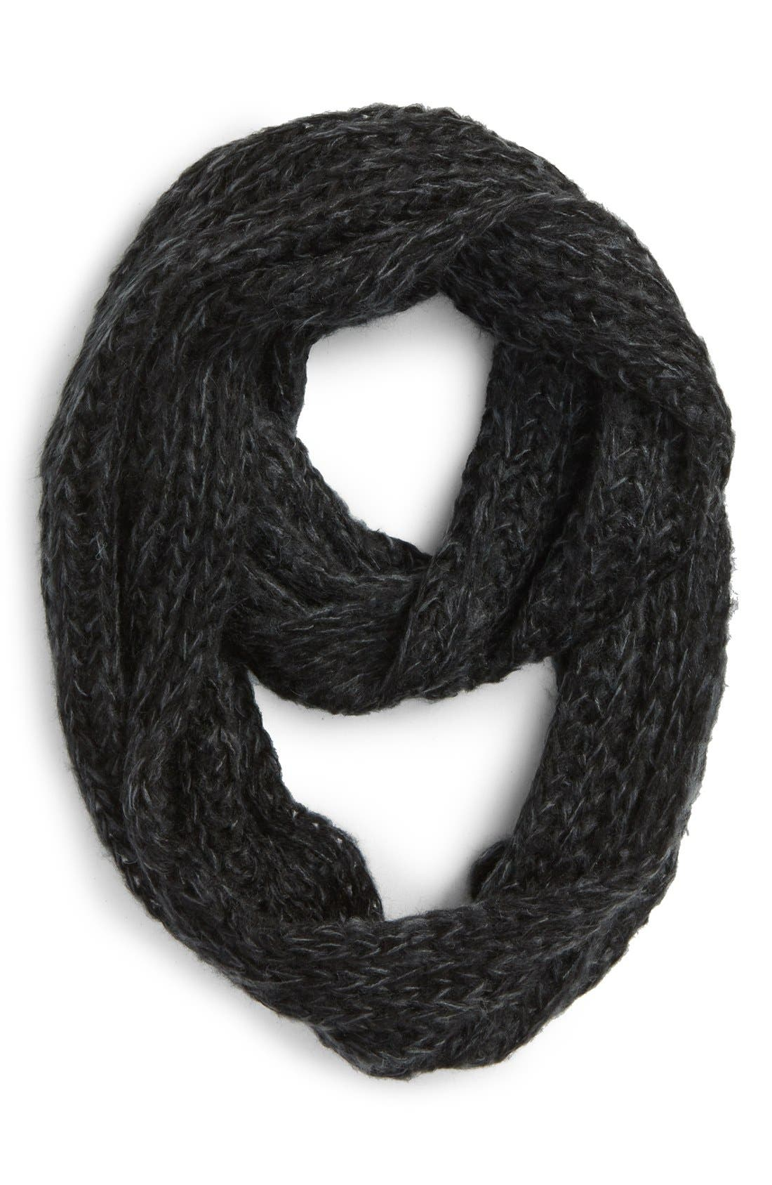Main Image - BCBGeneration 'Scribble Loop' Knit Infinity Scarf