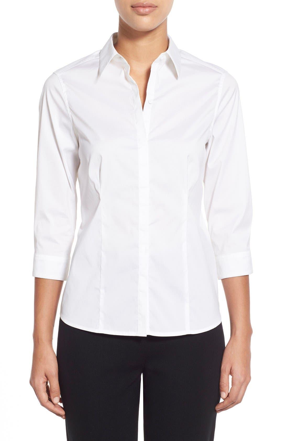 Ming Wang Stretch Poplin Shirt