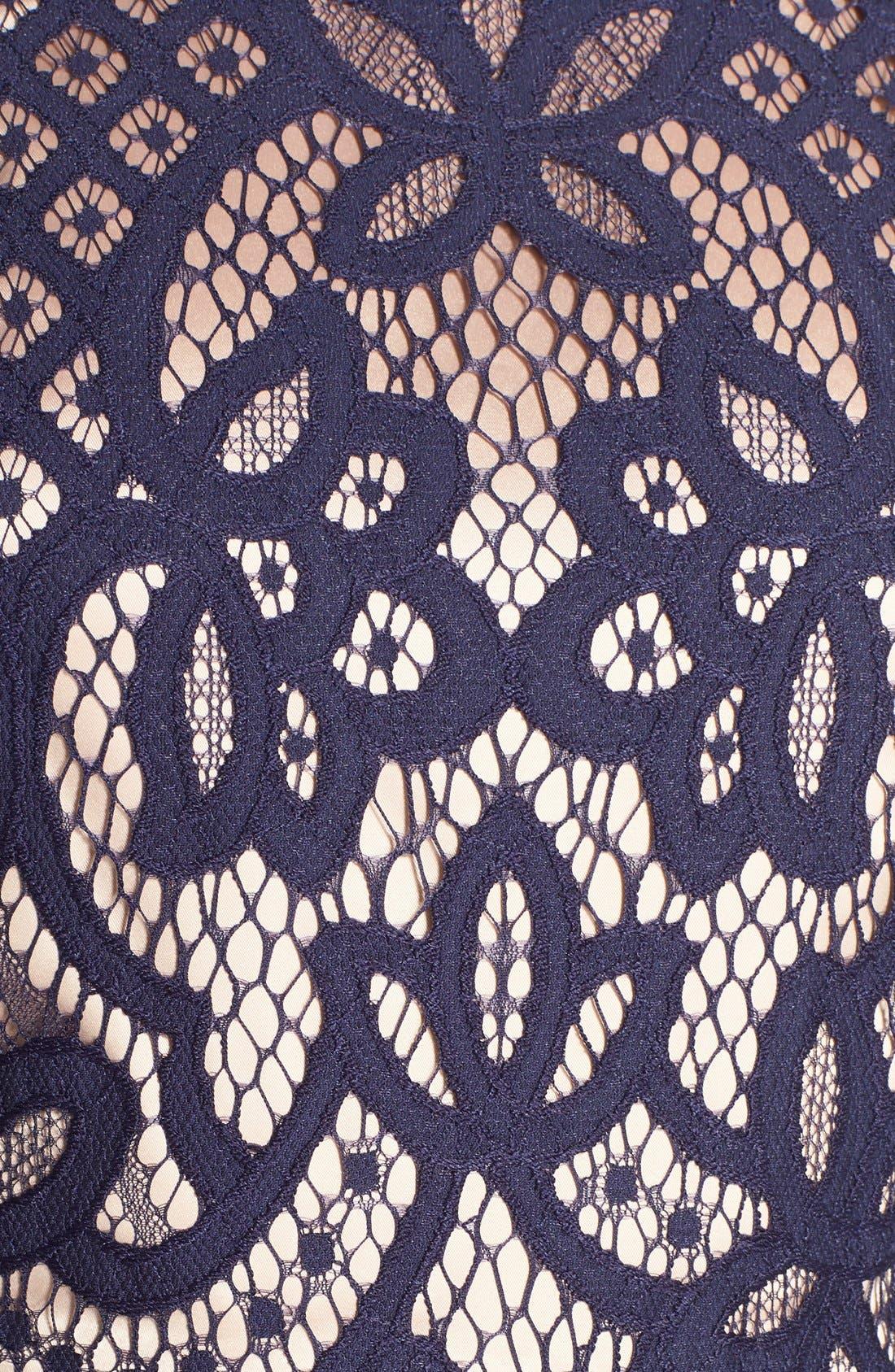 Alternate Image 6  - Eliza J Bell Sleeve Fit & Flare Dress (Regular & Petite)
