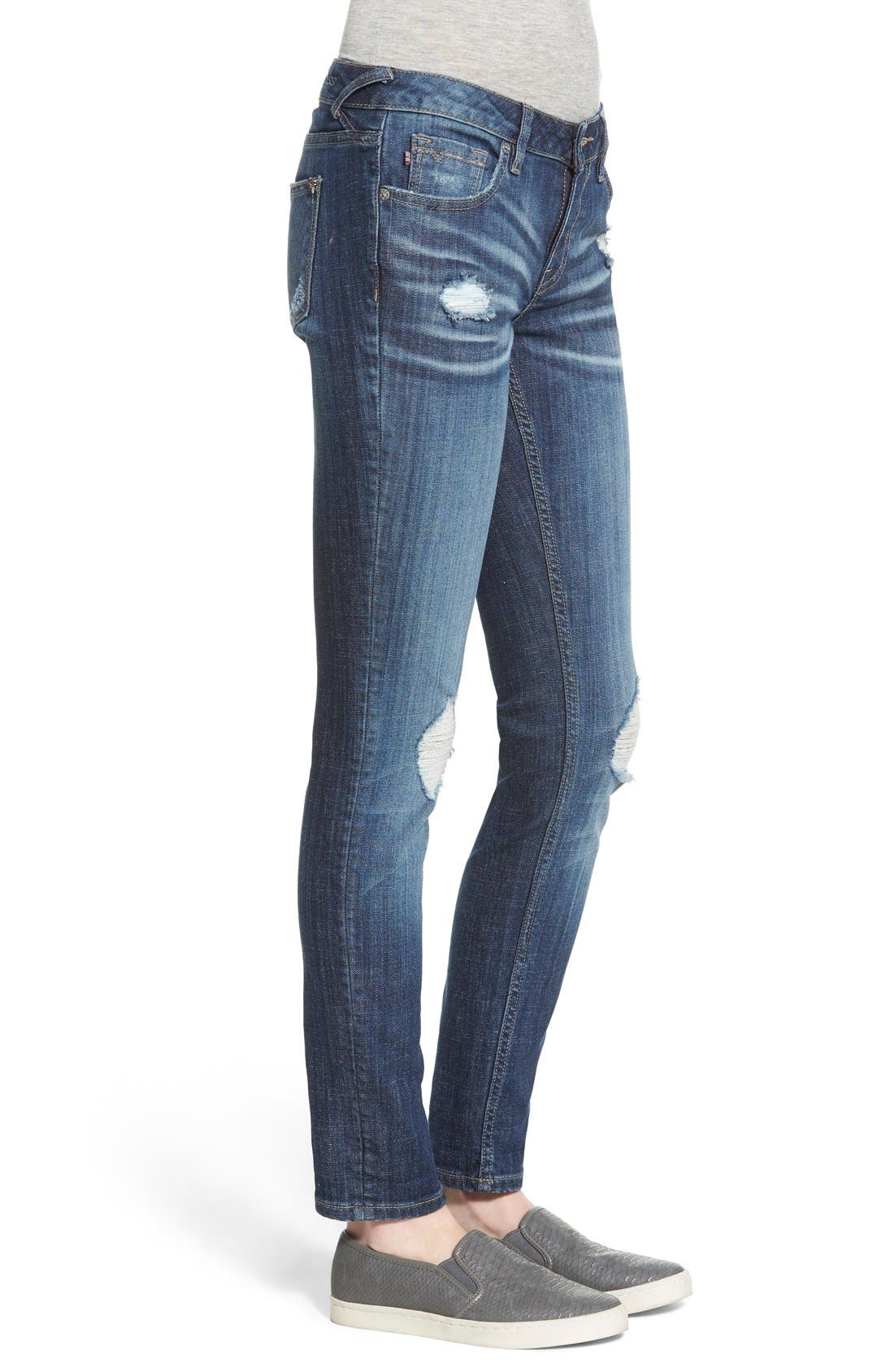 Alternate Image 4  - Vigoss 'Tomboy' Destroyed Skinny Jeans