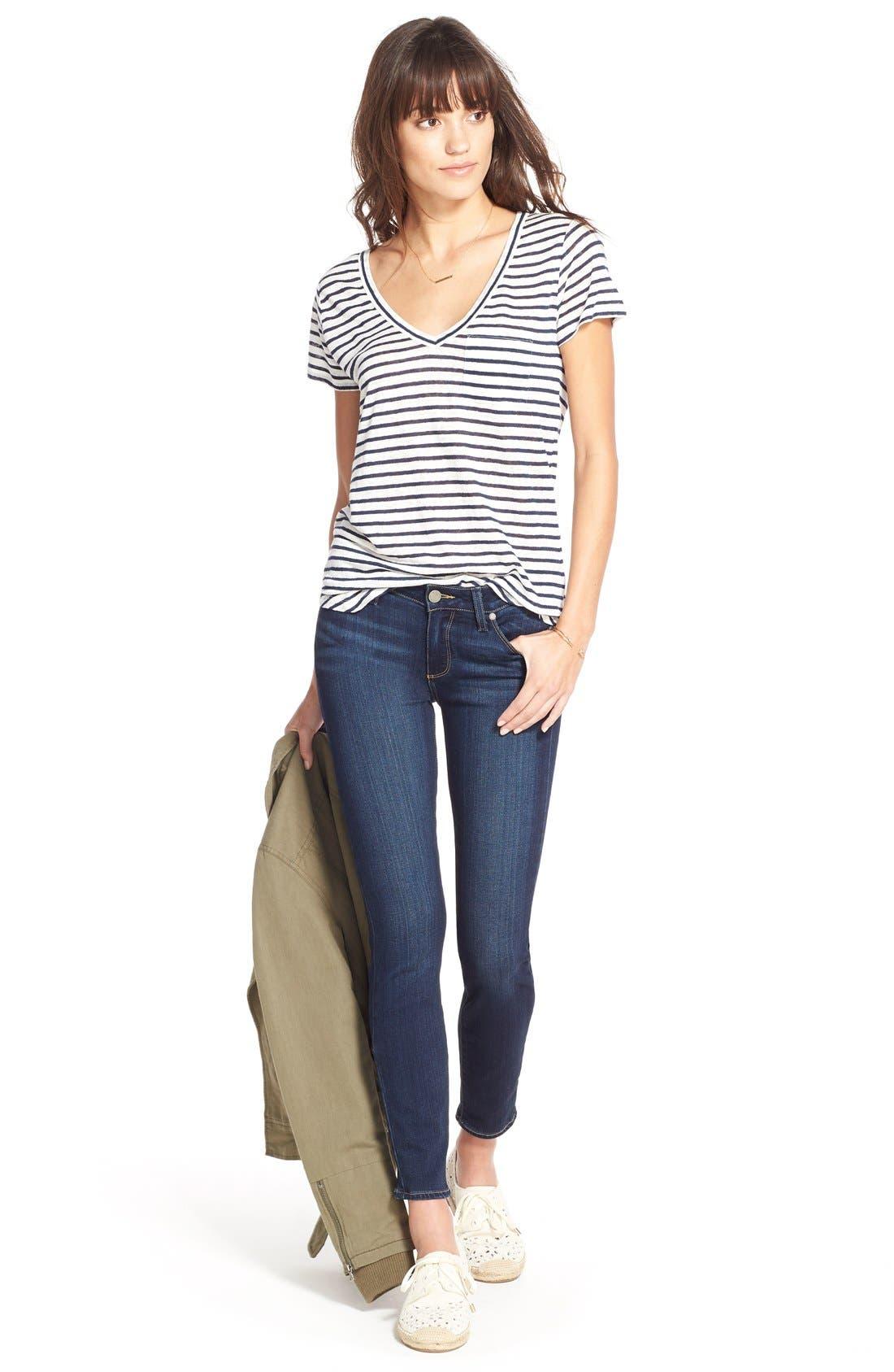 Alternate Image 2  - PAIGE Transcend - Verdugo Ankle Skinny Jeans (Nottingham)