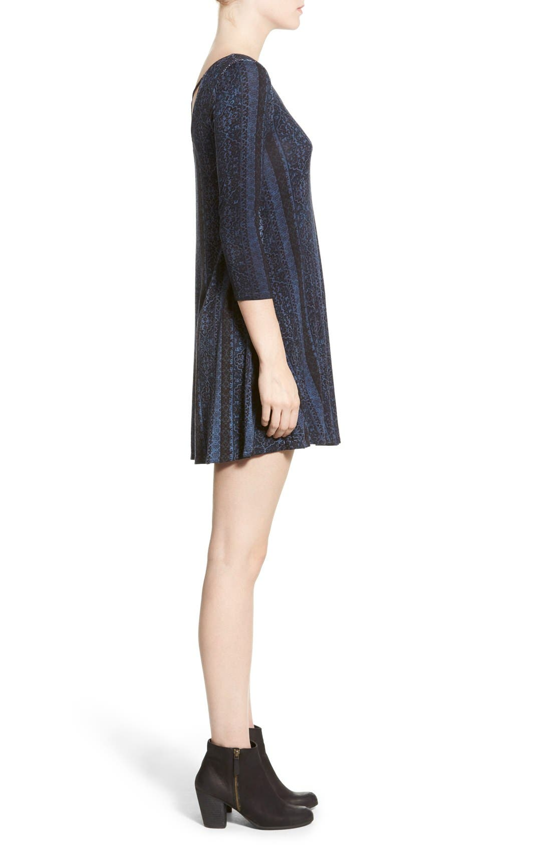 Alternate Image 3  - Socialite Print Cross Back Knit Dress