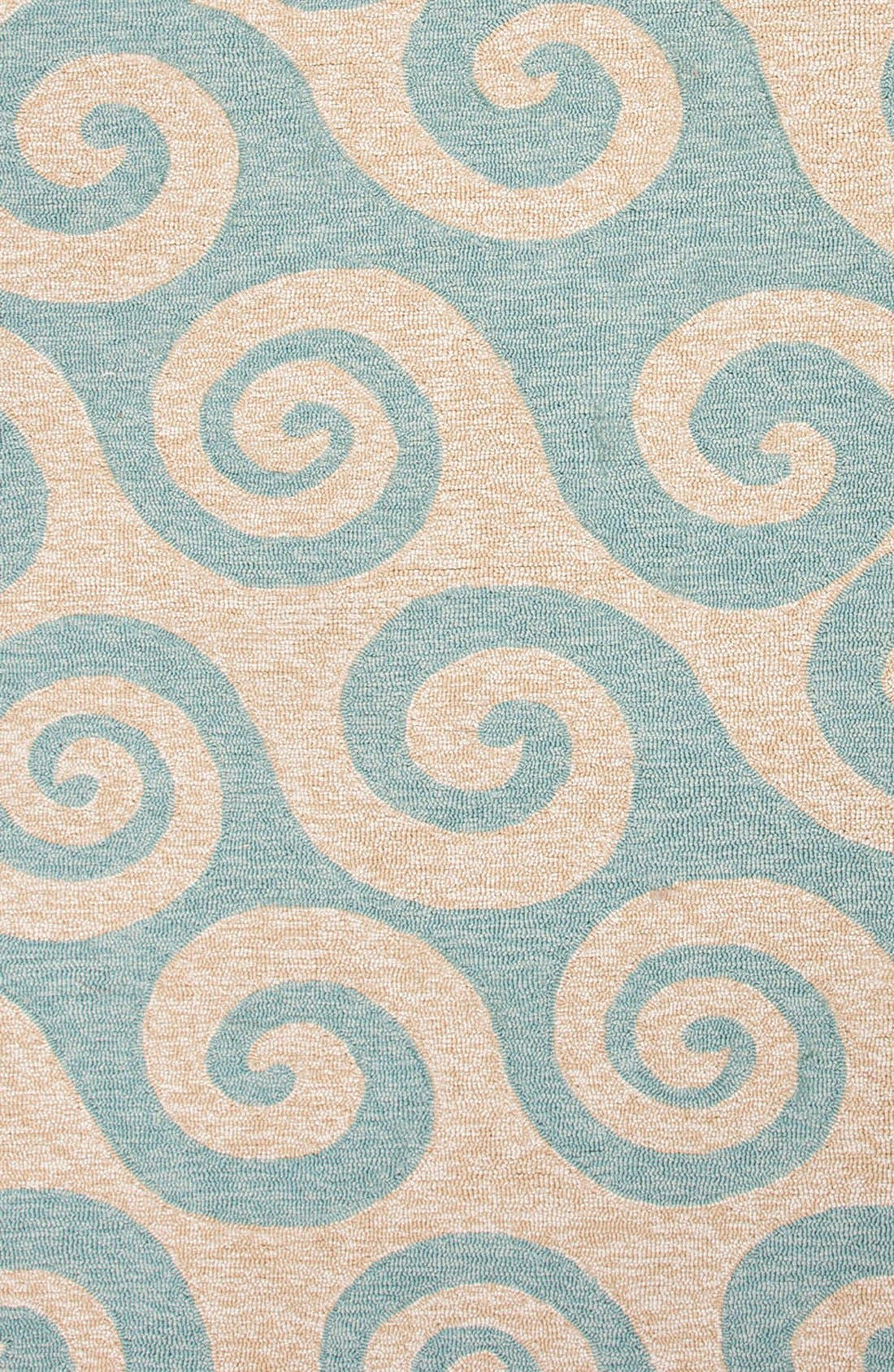 JAIPUR 'Coastal Lagoon Wave' Indoor/Outdoor Rug