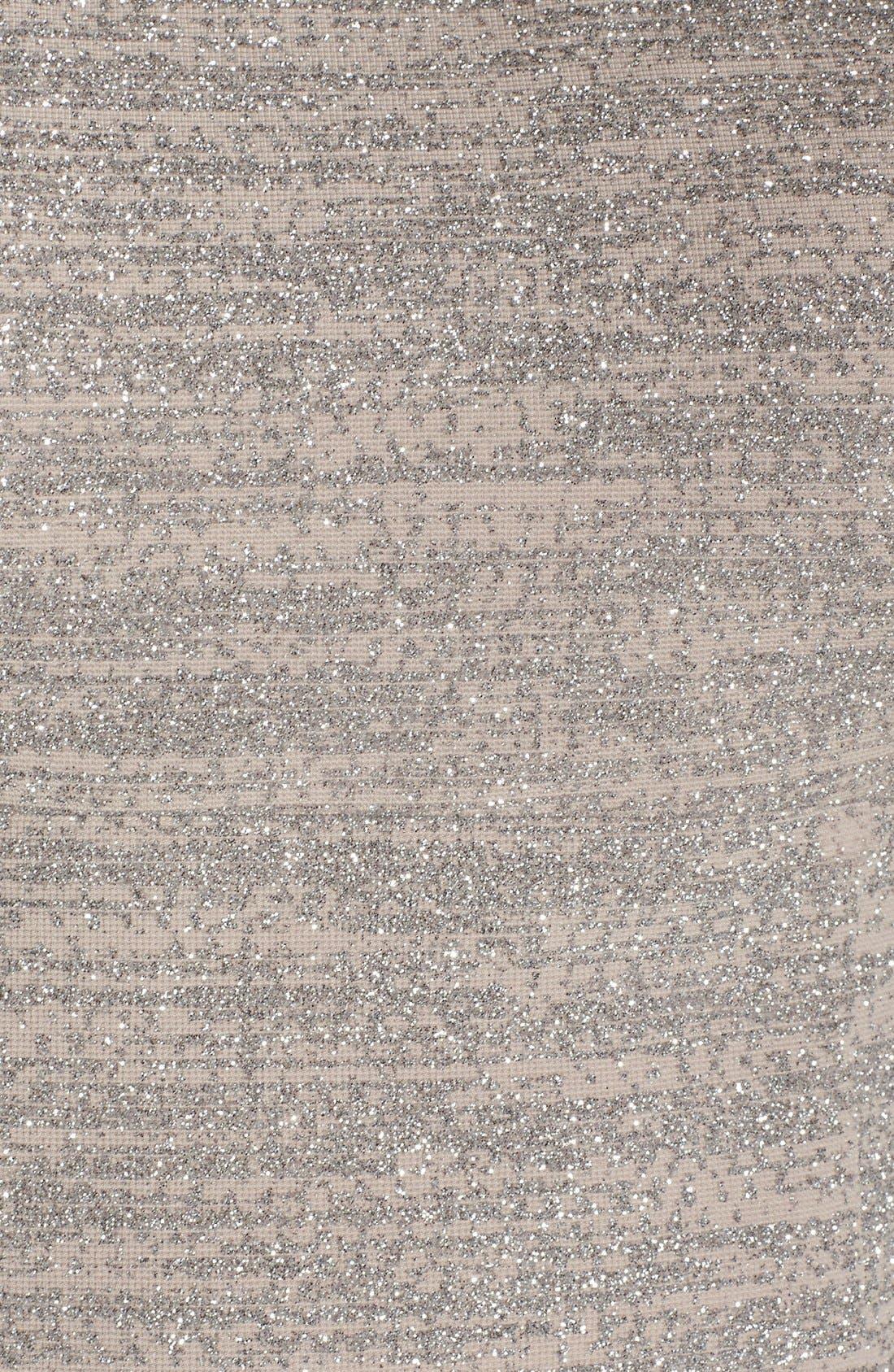 Alternate Image 5  - Eliza J Embellished Sparkle Knit Sheath Dress (Regular & Petite)