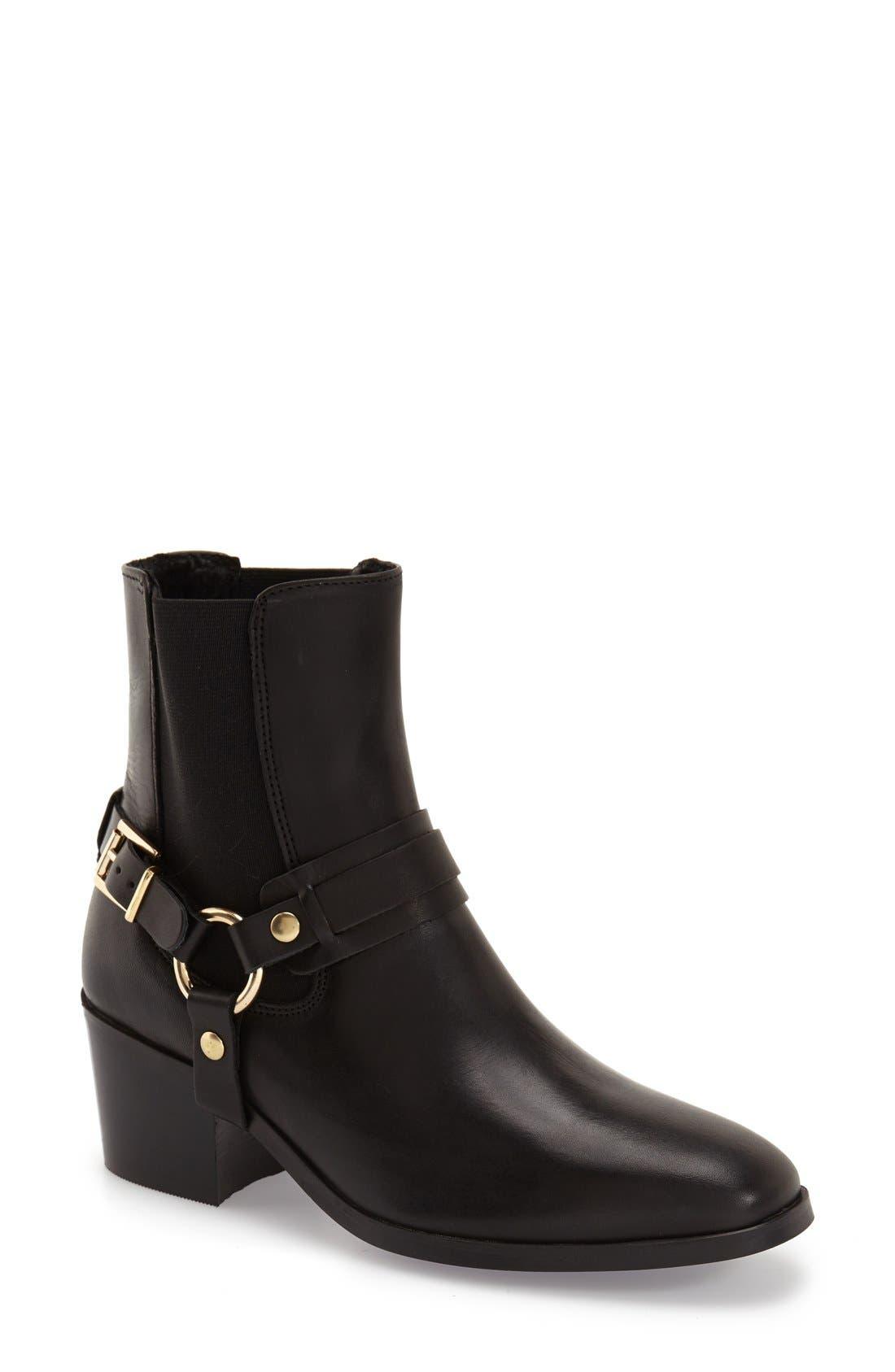 Topshop 'Morello' Leather Boot (Women)