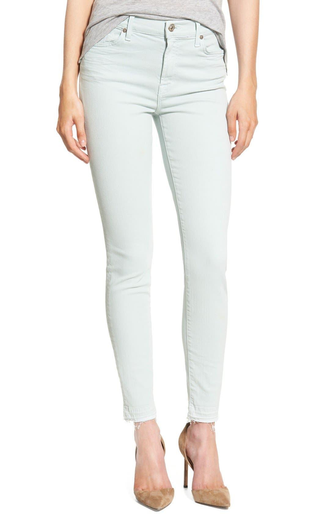 Alternate Image 1 Selected - 7 For All Mankind® Released Hem Ankle Skinny Jeans