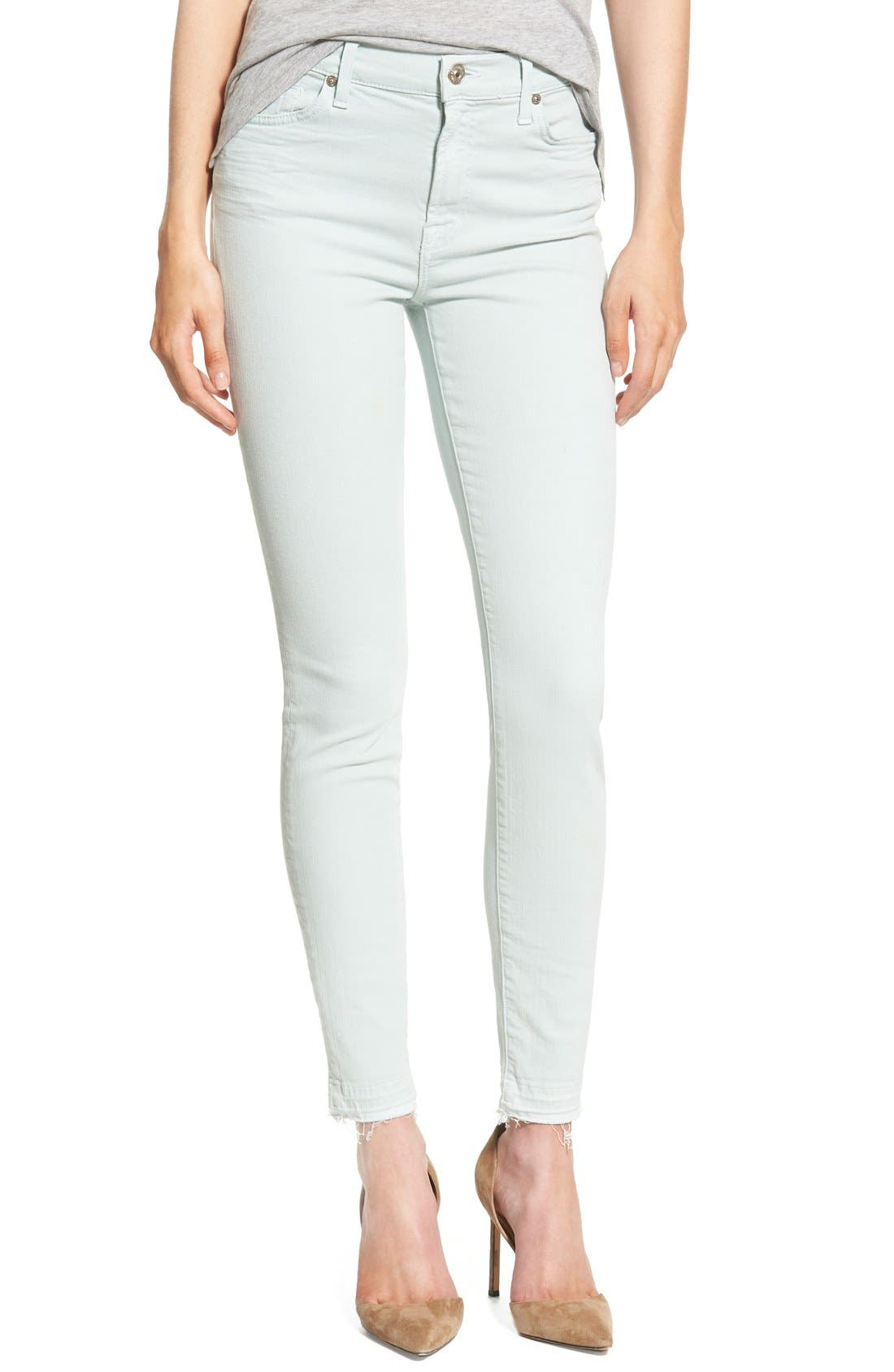 Main Image - 7 For All Mankind® Released Hem Ankle Skinny Jeans